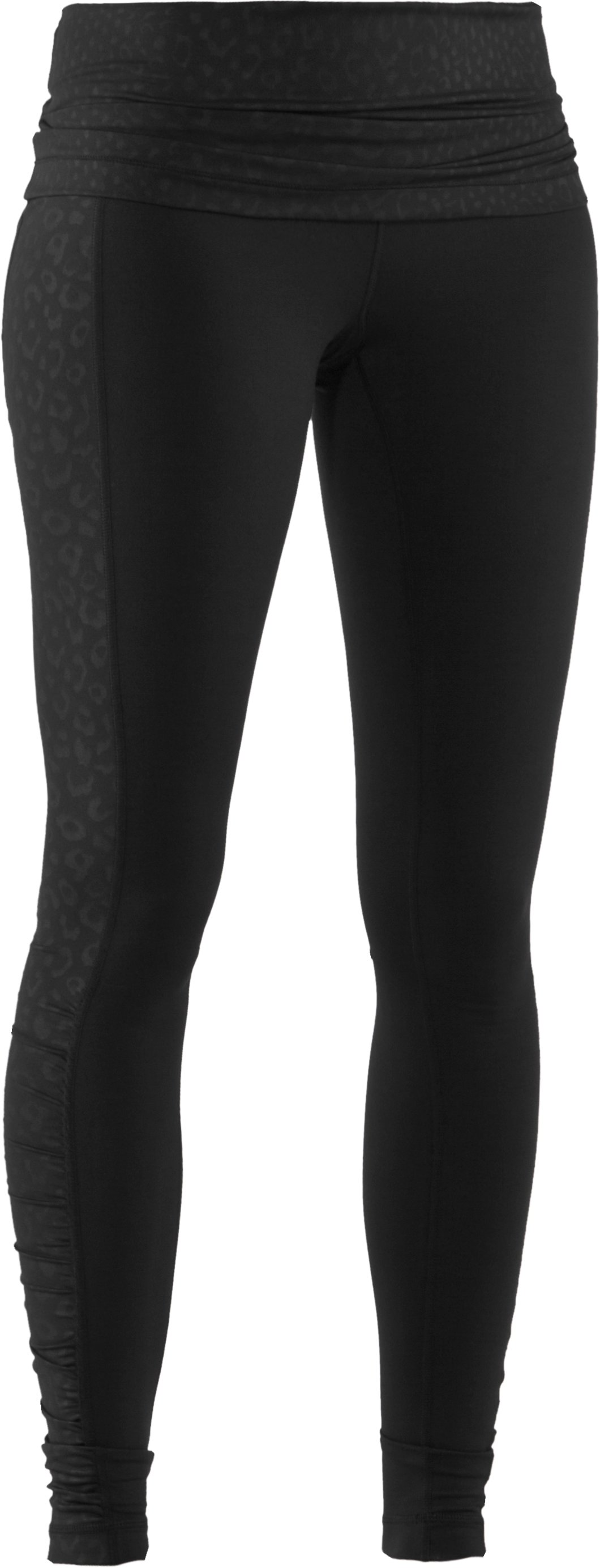 Women's UA StudioLux® Noir Foldover Leggings, Black , undefined