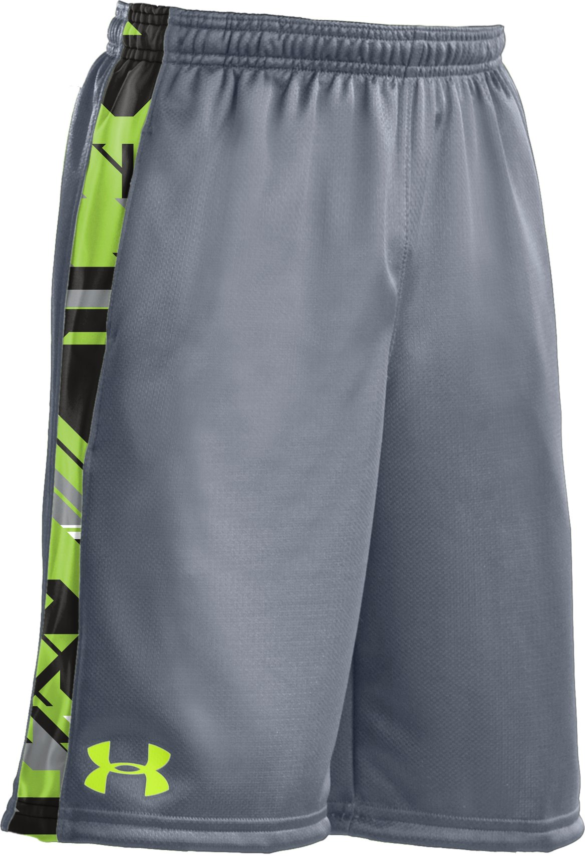 "Boys' UA Ultimate 9"" Shorts, Steel, zoomed image"