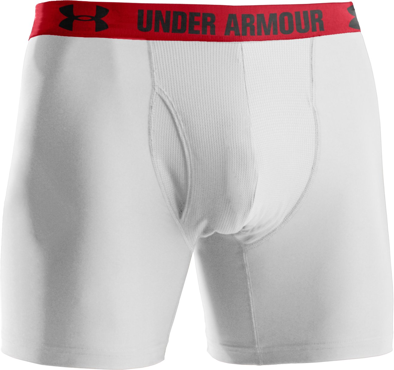 "Men's UA HeatGear® Performance 6"" Boxerjock® 2-Pack, White"
