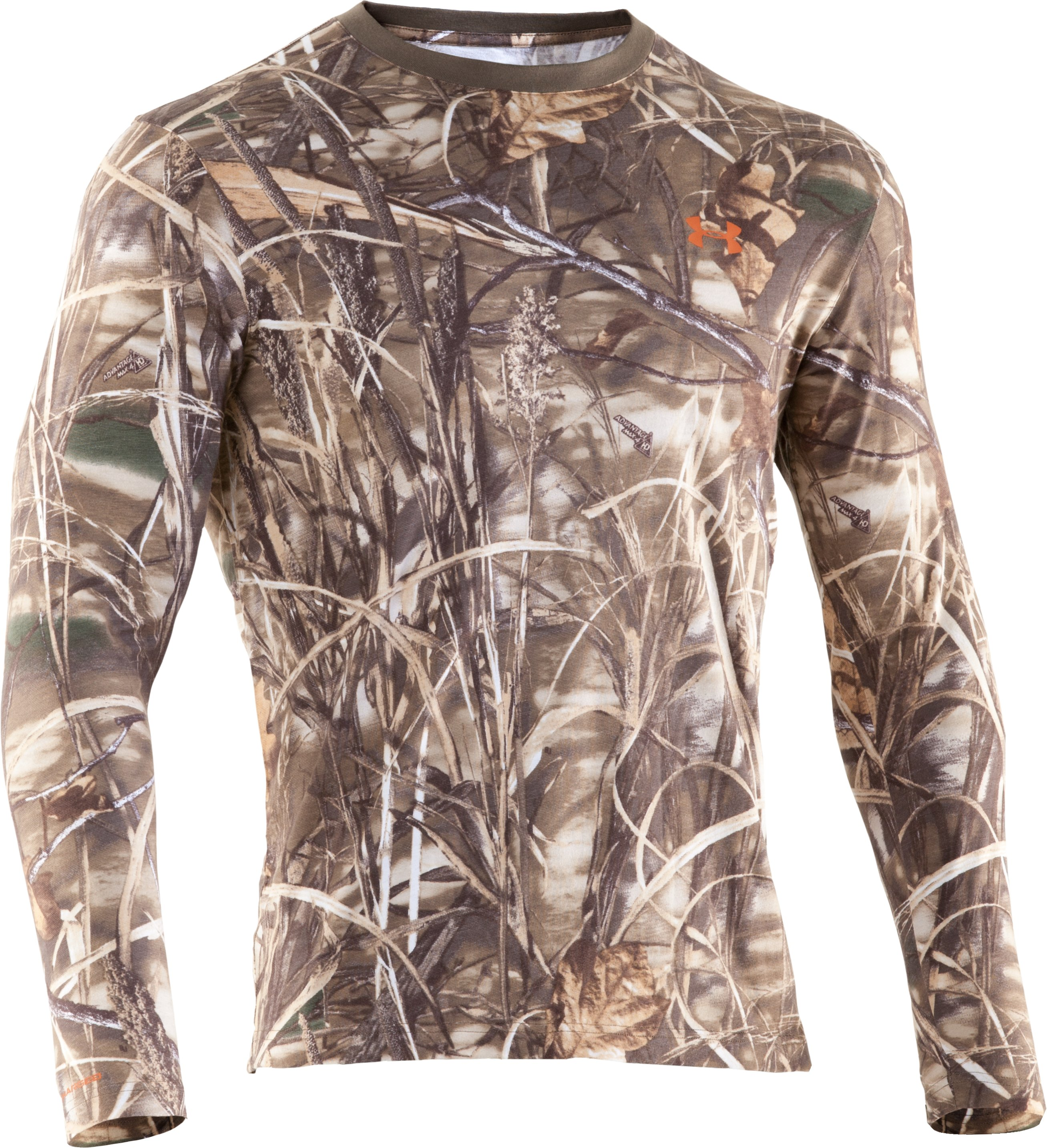 Men's Charged Cotton® Camo Long Sleeve T-Shirt, Realtree Max