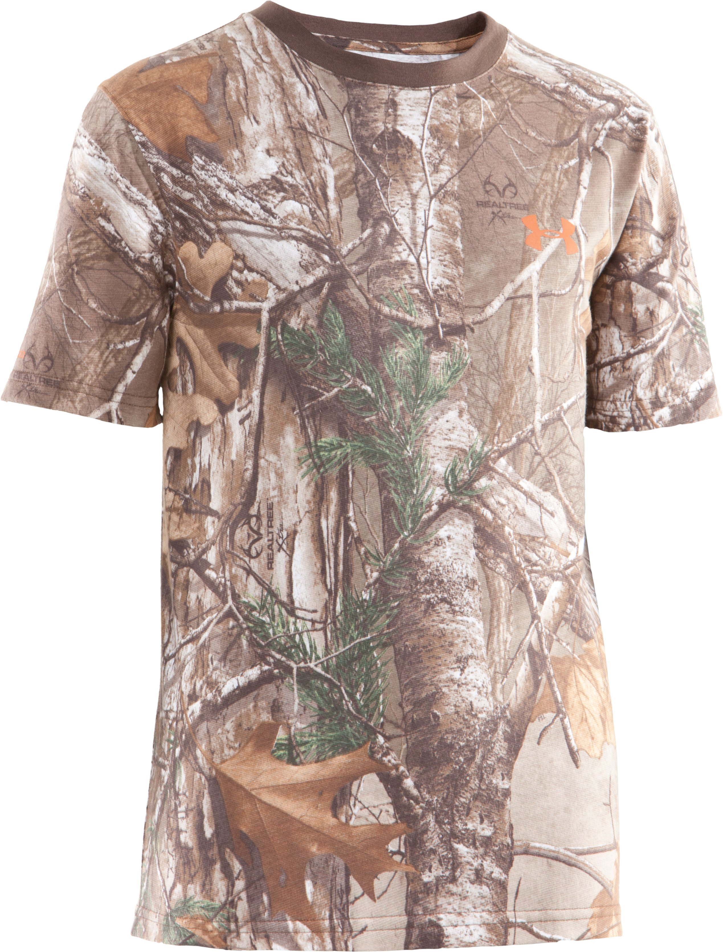 Boys' Charged Cotton® Camo Short Sleeve T-Shirt, REALTREE AP-XTRA