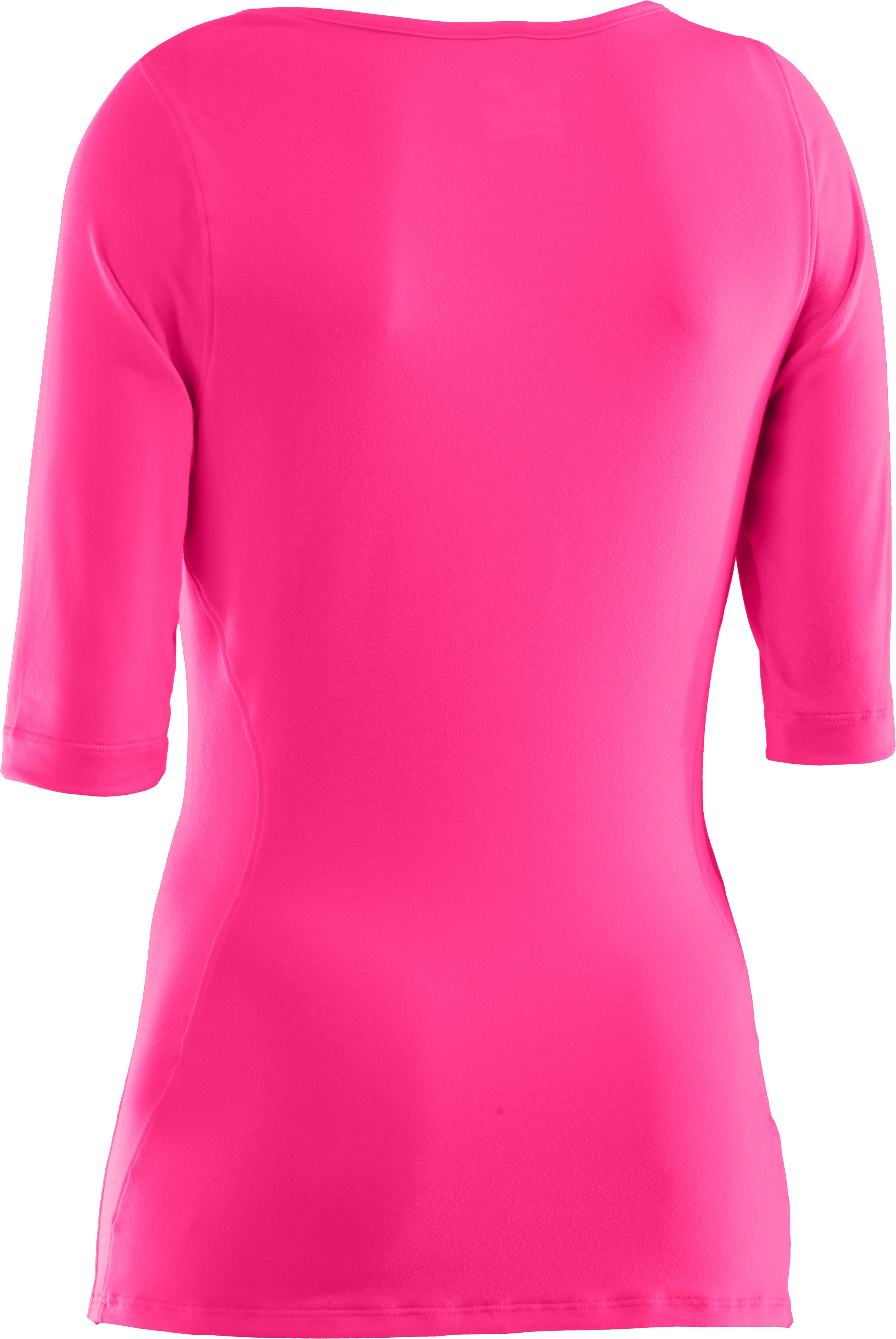 Women's UA PIP® Touch ¾ Tee, Cerise, undefined