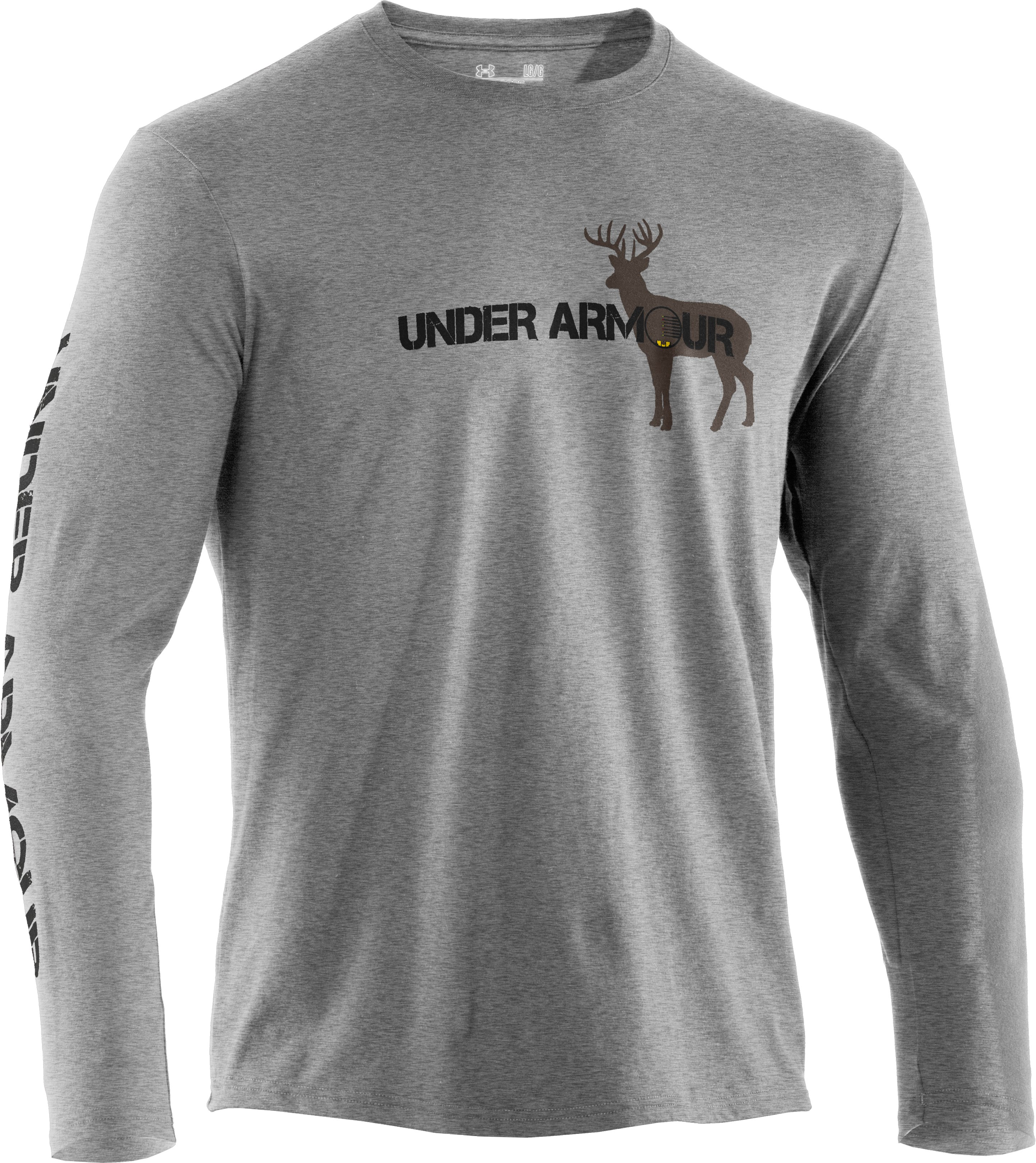 Men's UA Whitetail Crosshairs T-Shirt, True Gray Heather, undefined