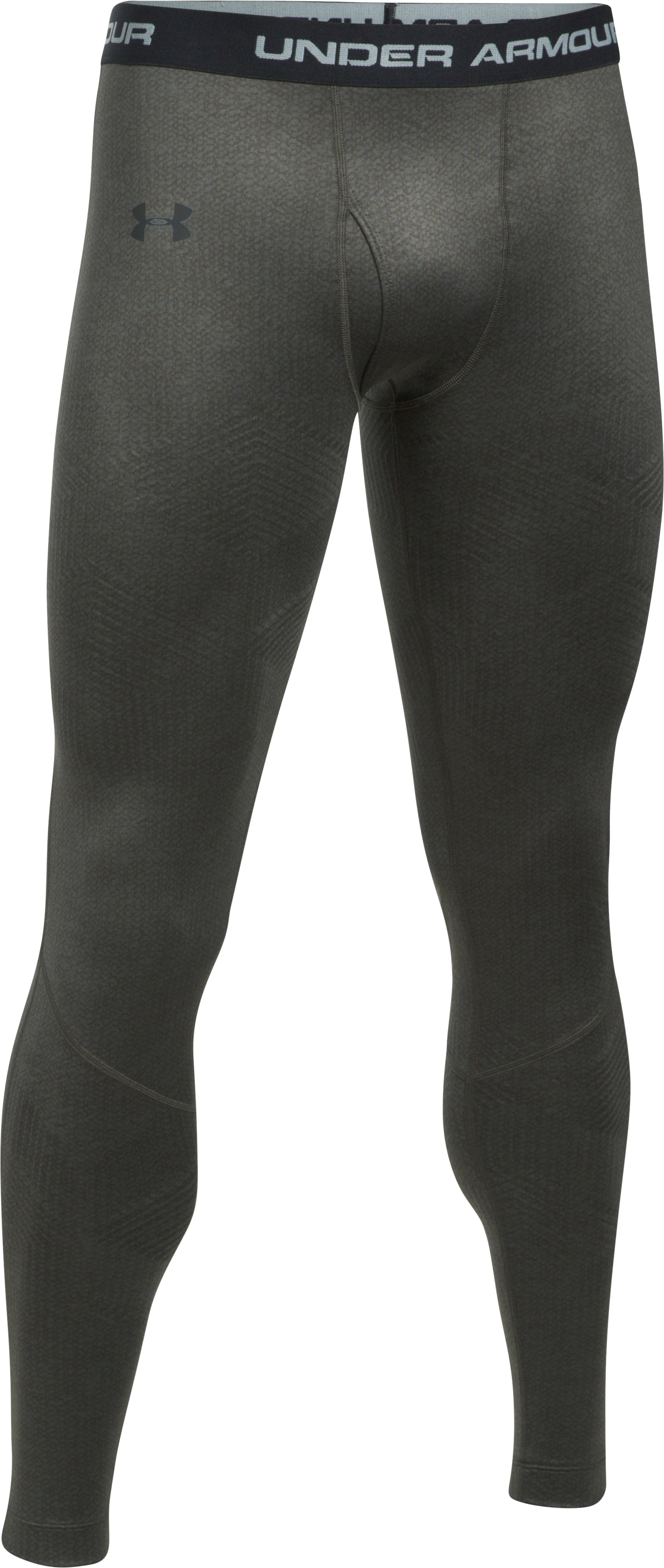 Men's UA ColdGear® Infrared Fitted Leggings, NORI GREEN, undefined