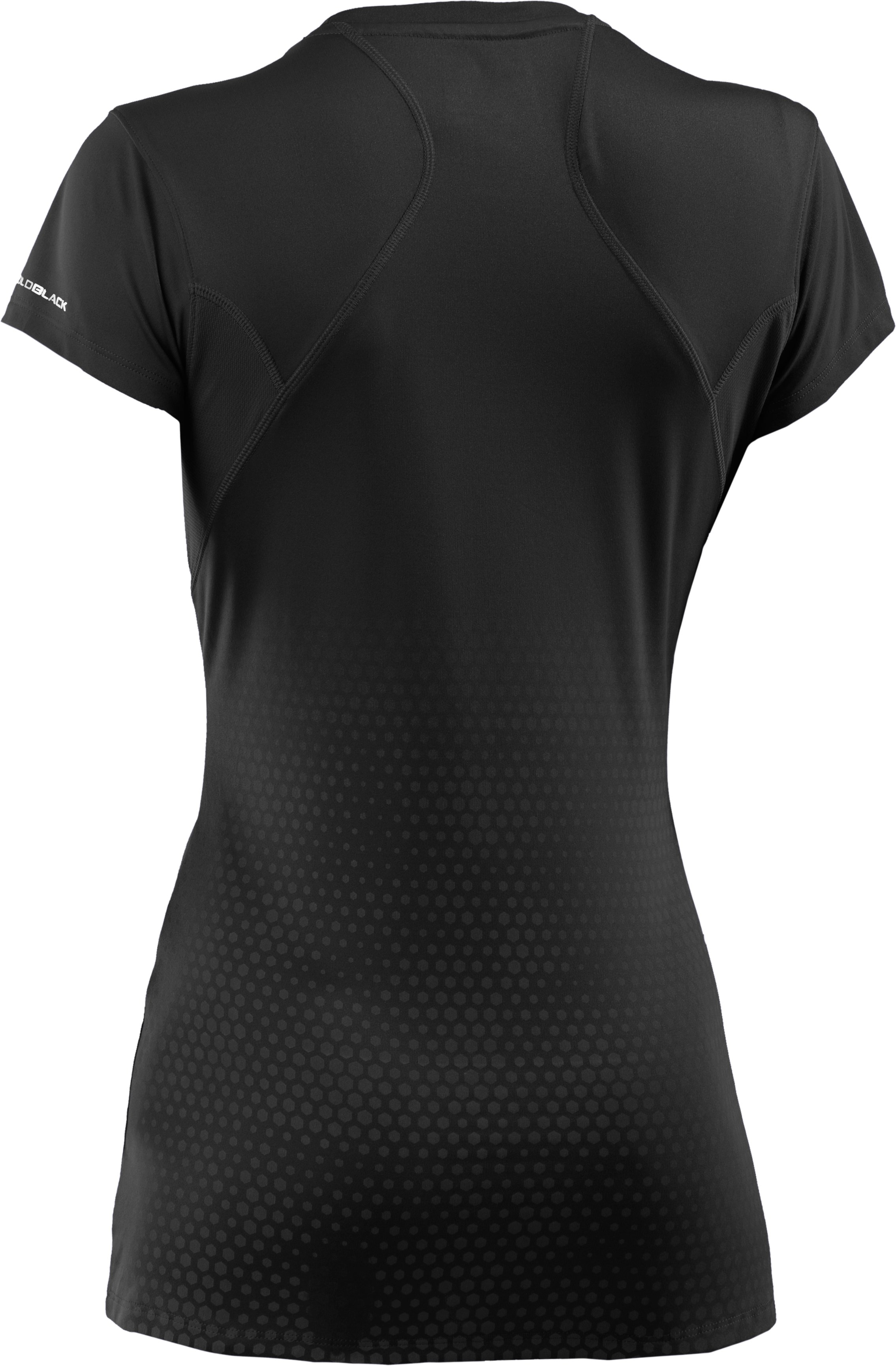Women's UA coldblack® Run Short Sleeve, Black