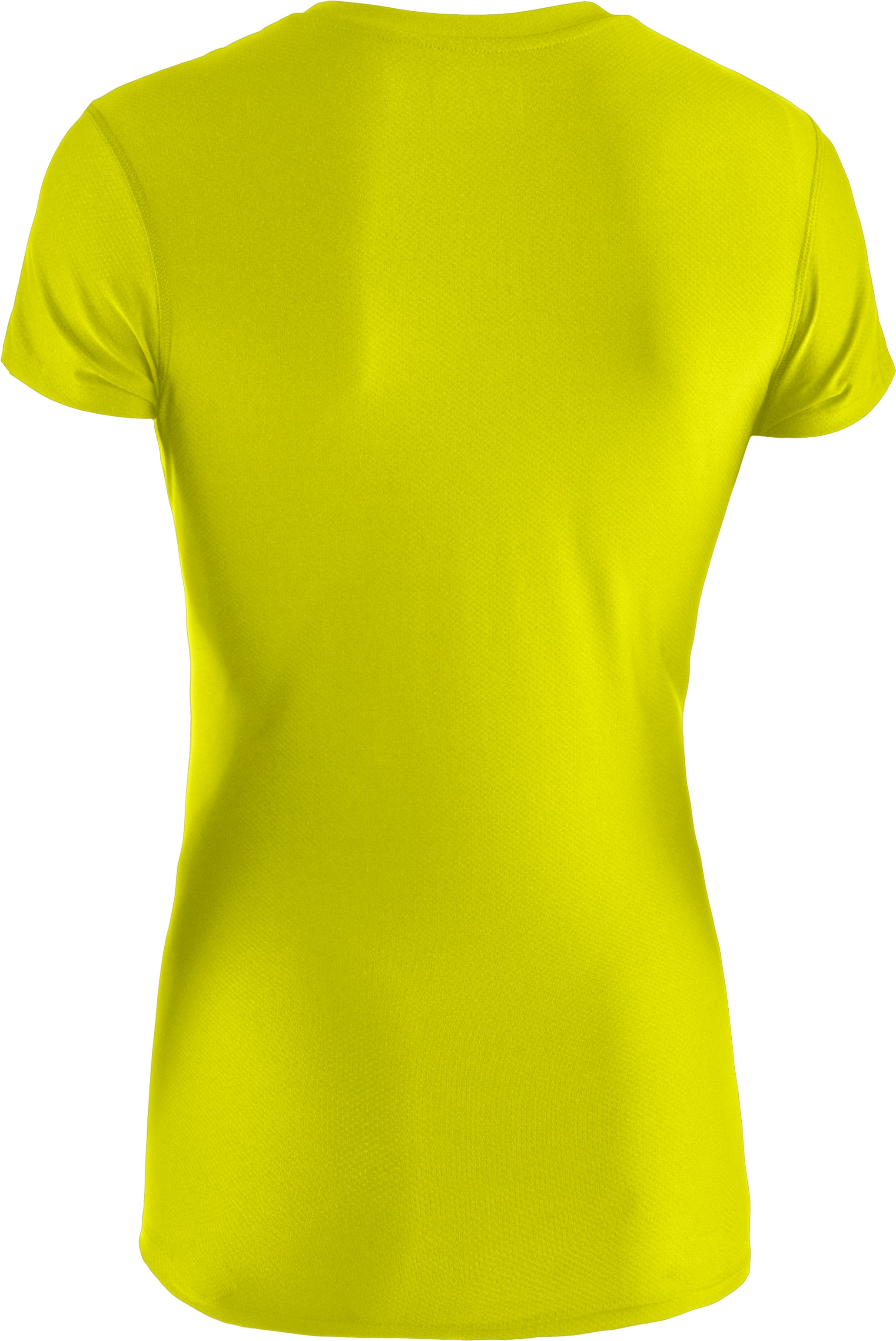 Women's UA Authentic T-Shirt, High-Vis Yellow