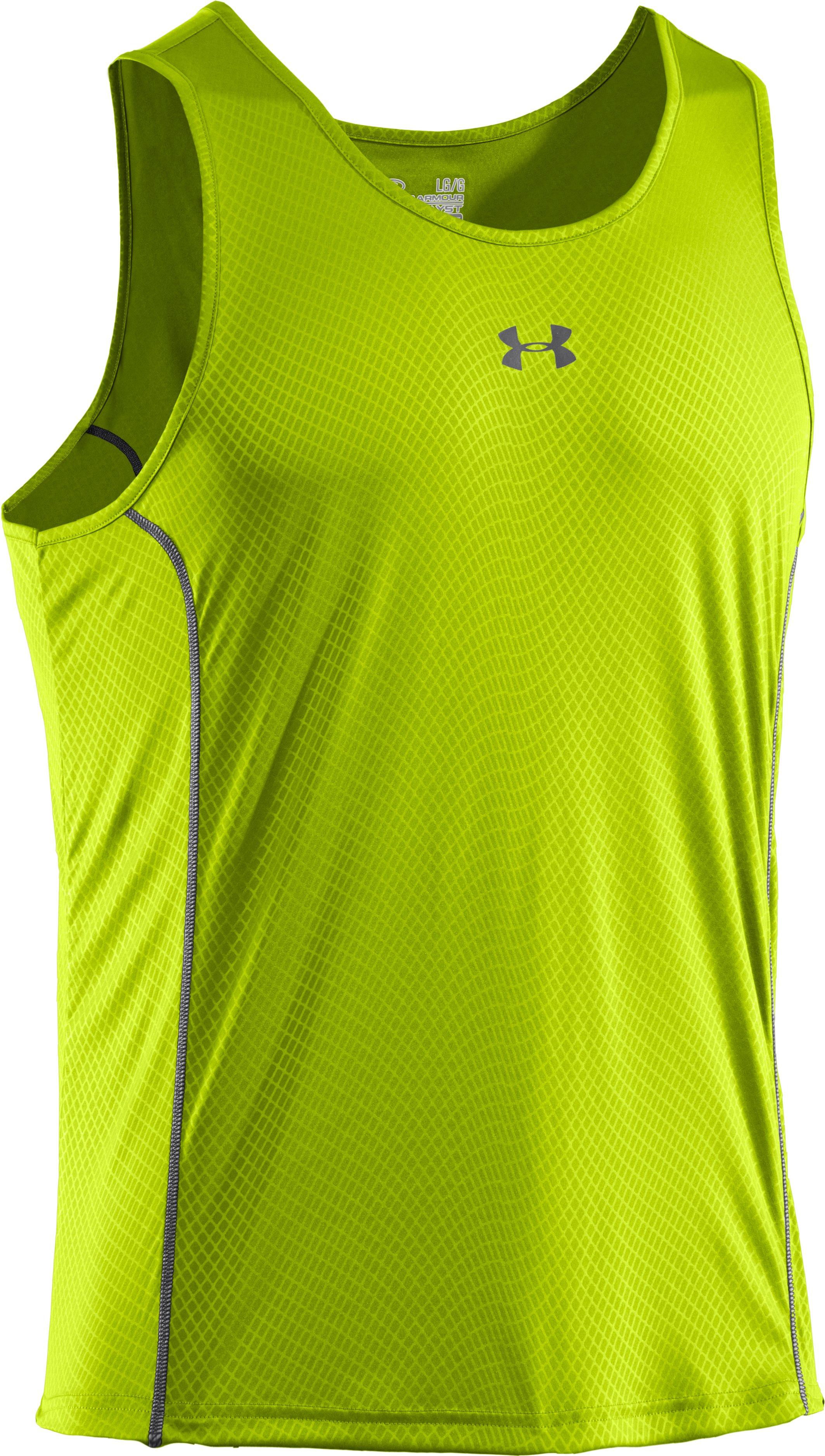 Men's UA Anatomix Run Singlet, Velocity, undefined