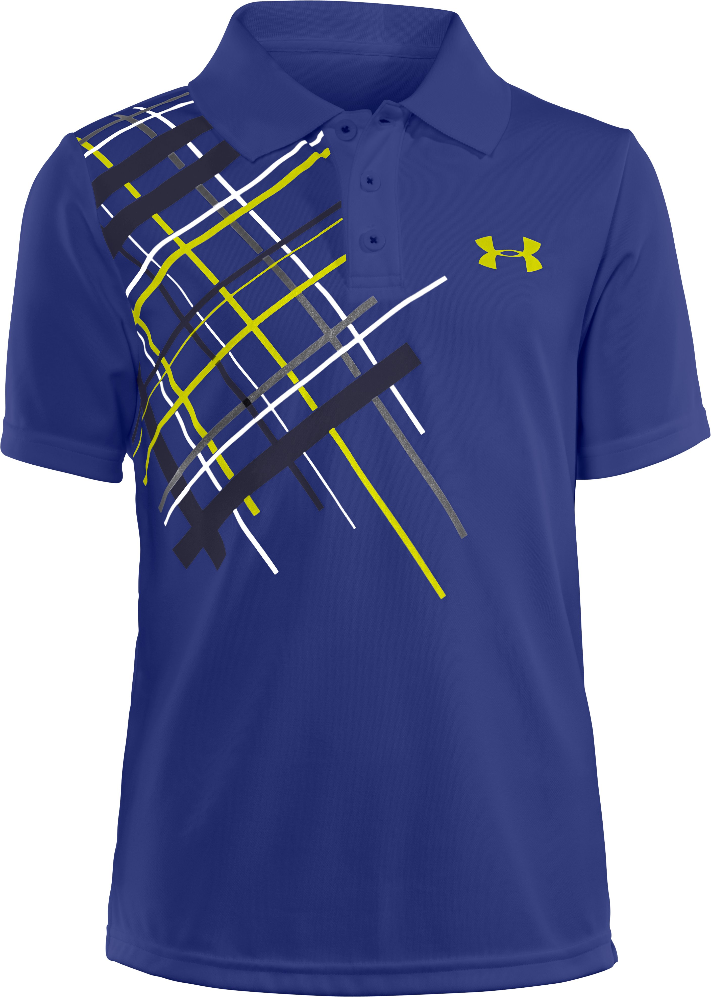Boys' UA Forged Polo, Royal, zoomed image