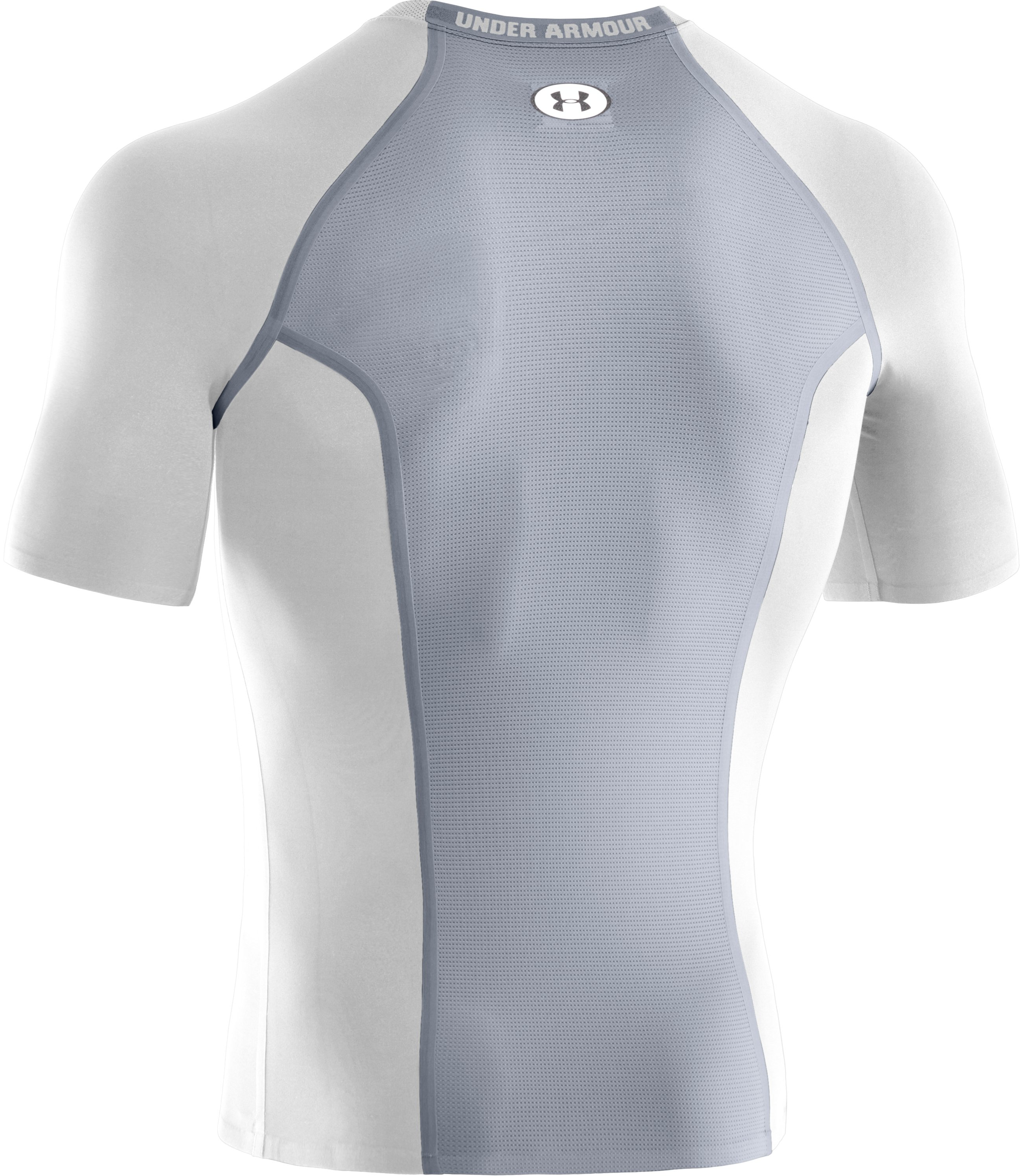Men's HeatGear® Dynasty Vented Compression Short Sleeve, White