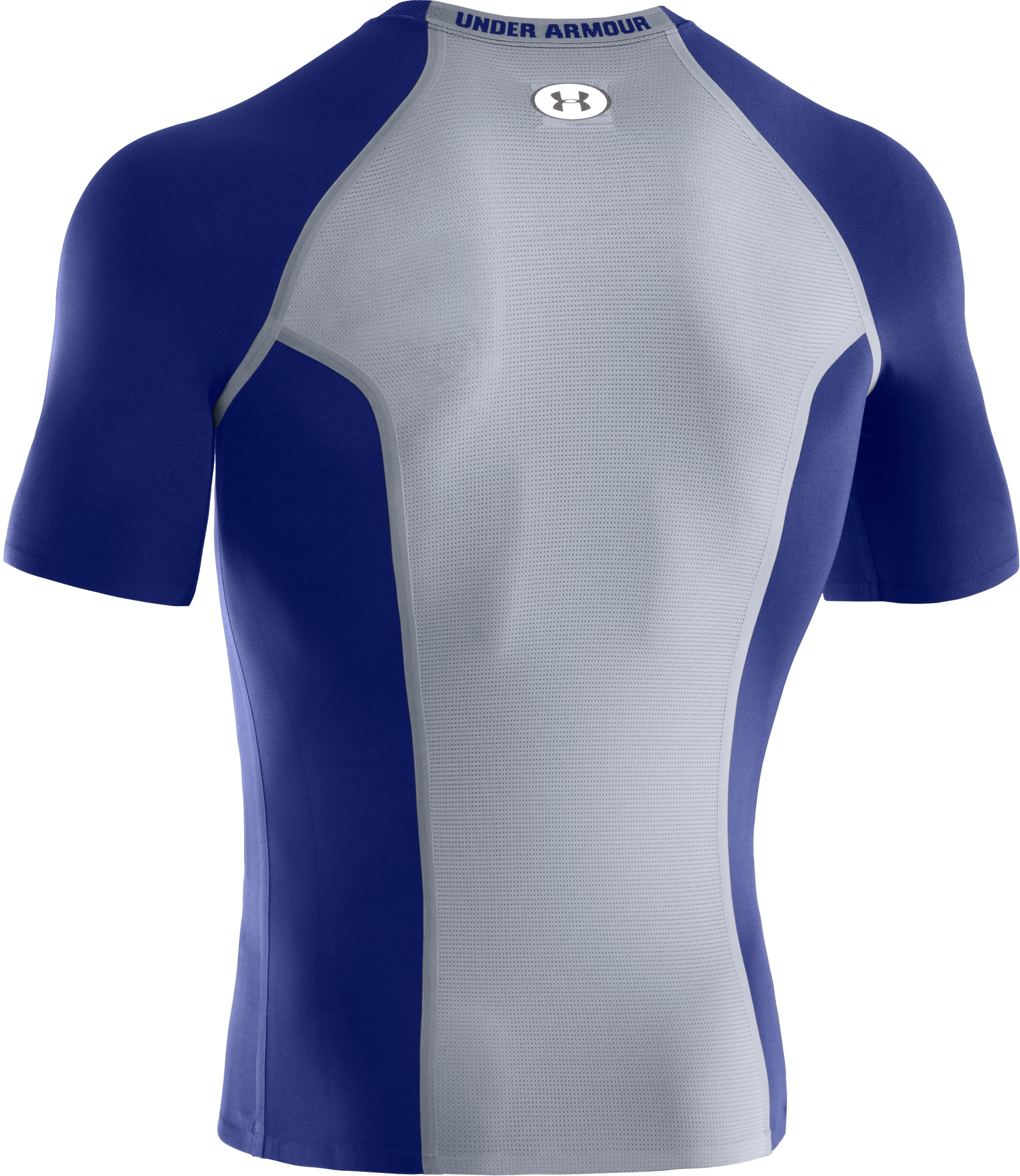 Men's HeatGear® Dynasty Vented Compression Short Sleeve, Royal