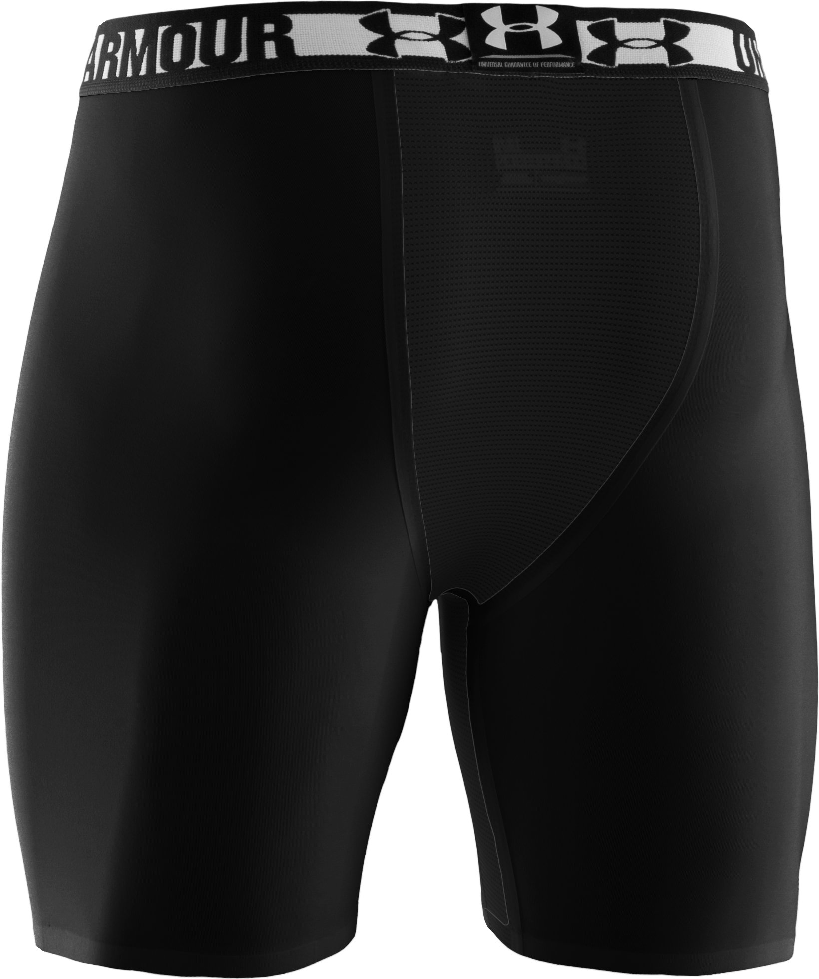"Men's HeatGear® Dynasty Vented 6"" Compression Shorts, Black"