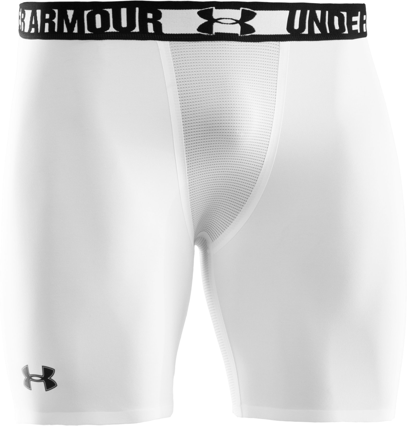 "Men's HeatGear® Dynasty Vented 6"" Compression Shorts, White"