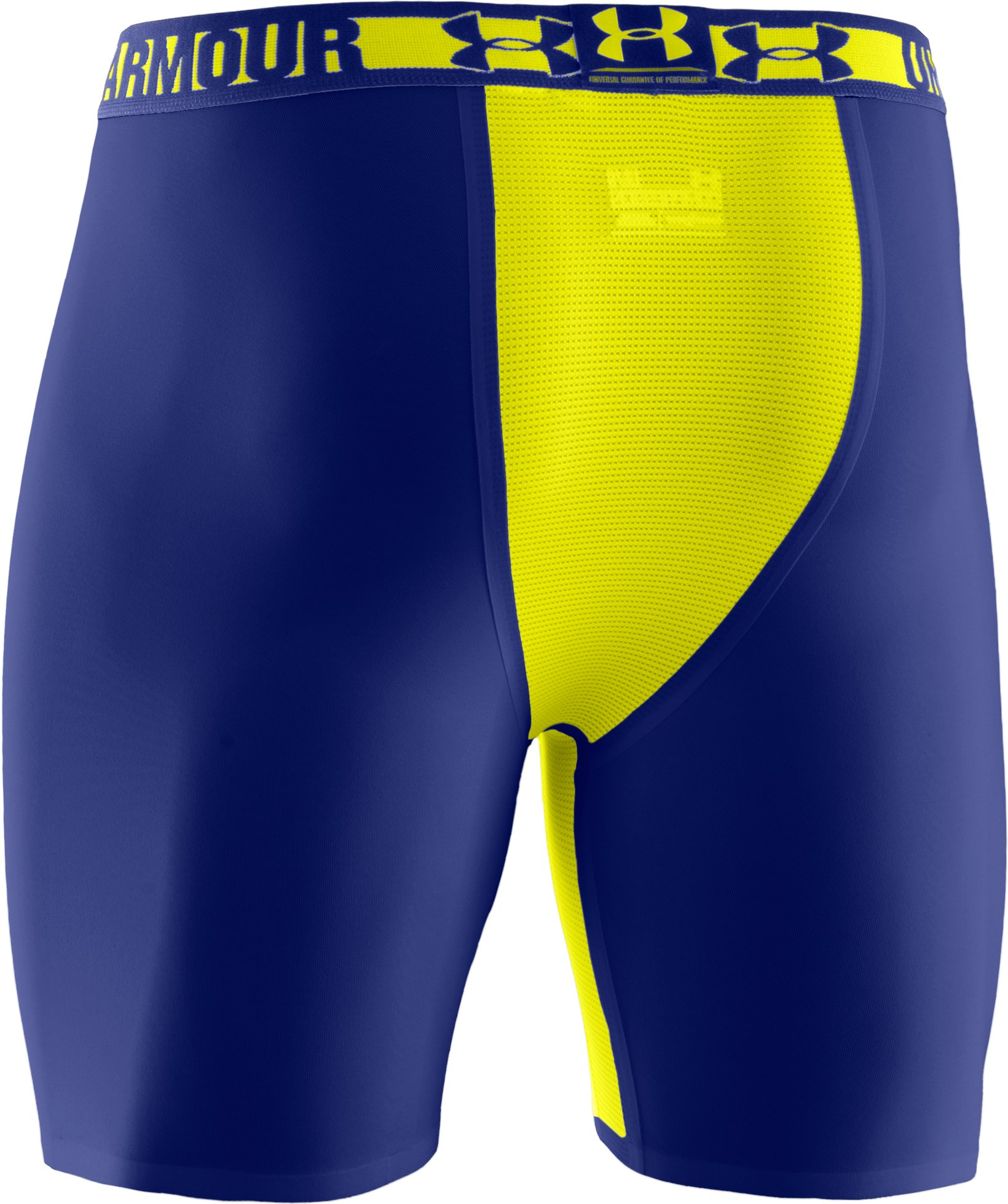 "Men's HeatGear® Dynasty Vented 6"" Compression Shorts, Royal,"