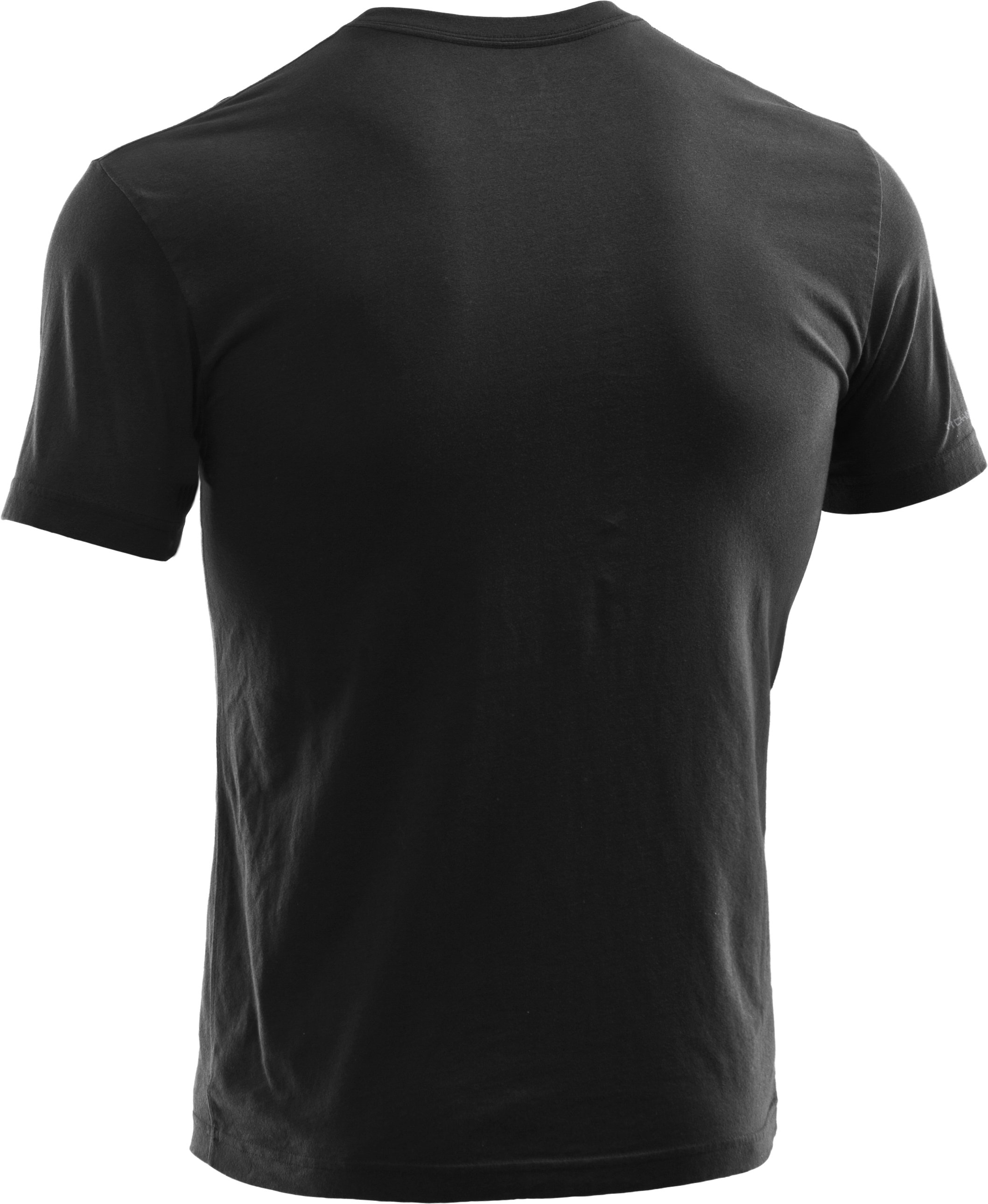 Men's UA Mesh Logo T-Shirt, Black , undefined