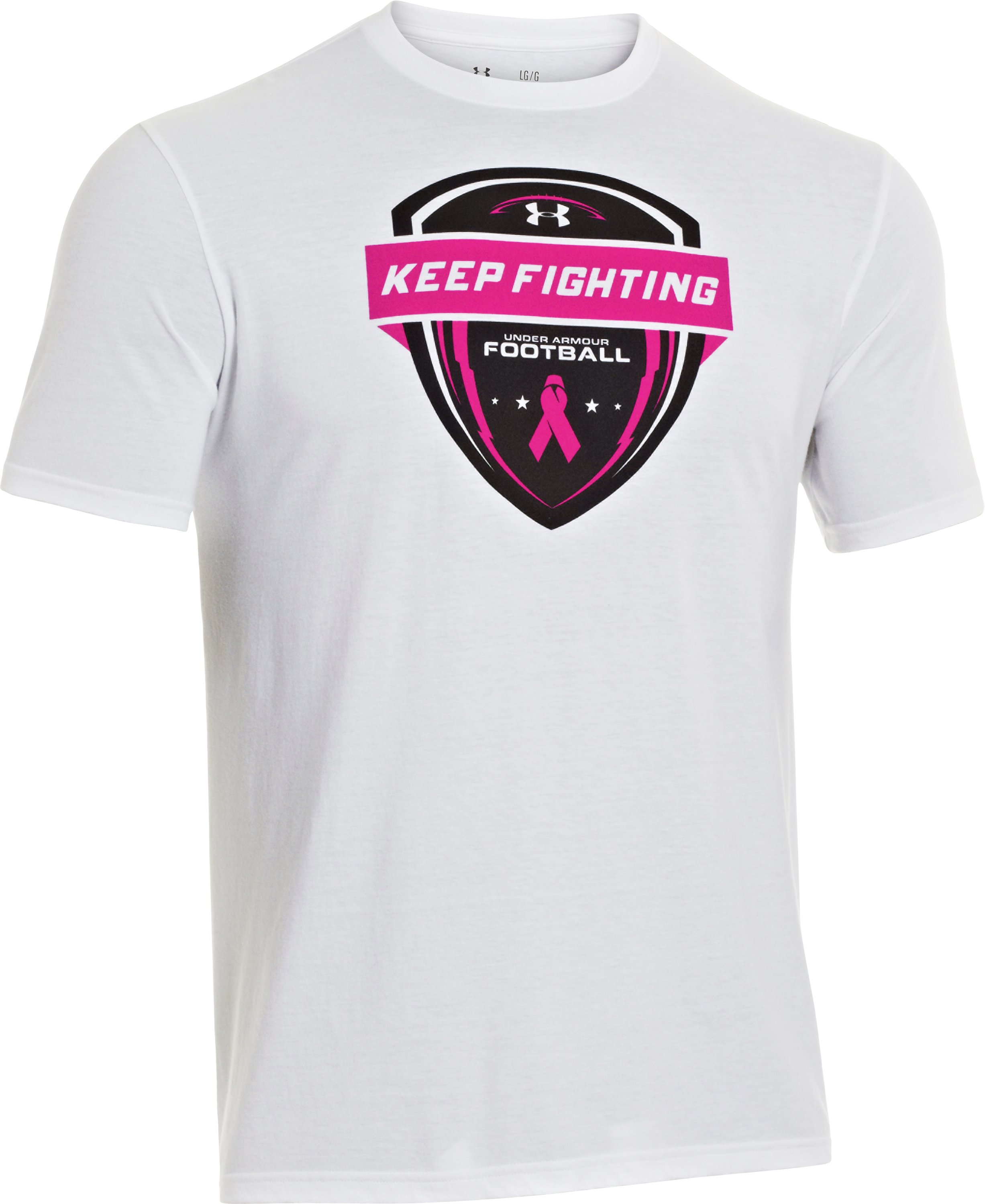 Men's UA Power In Pink® T-Shirt, White,