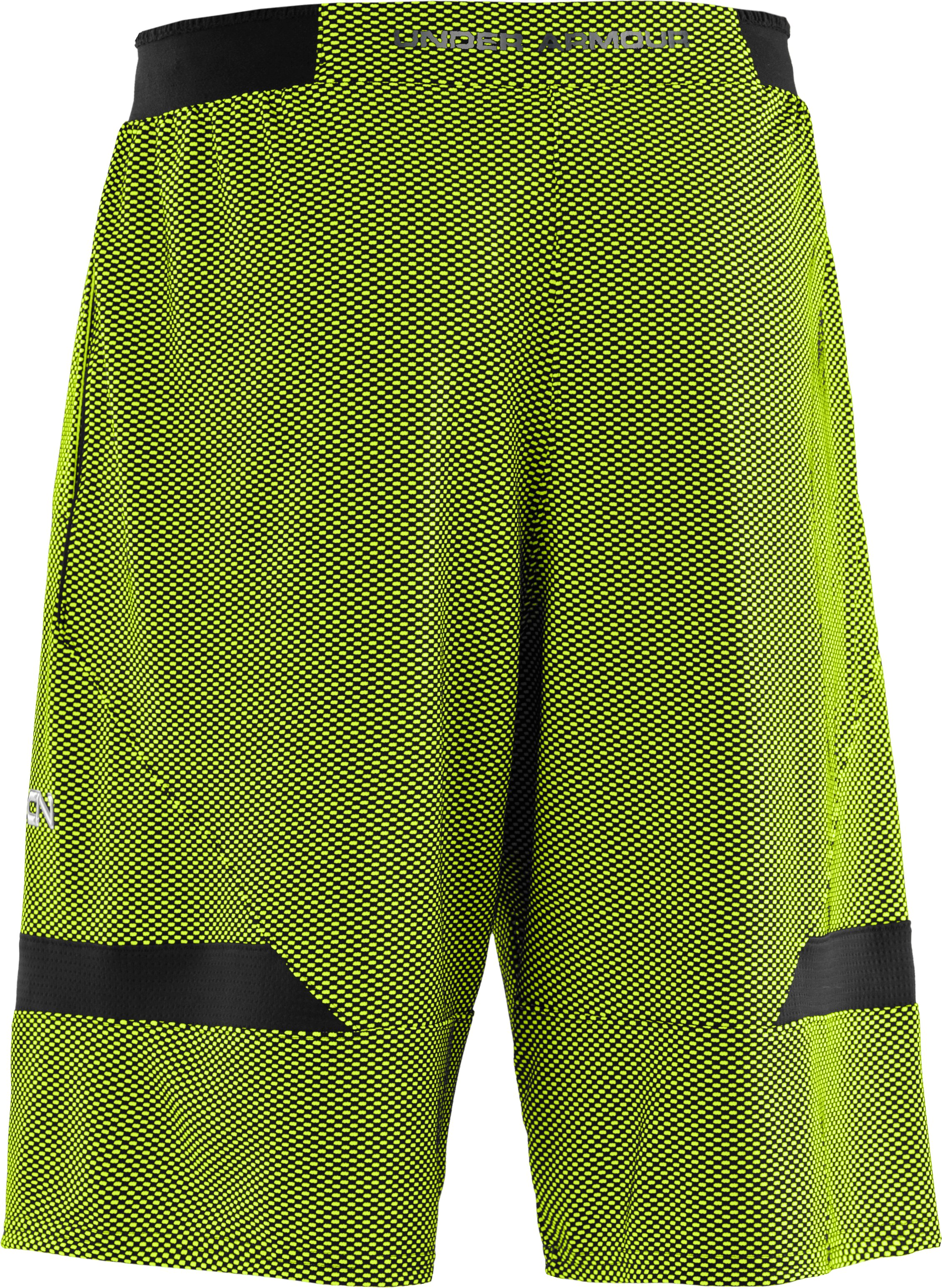 Men's C1N Da Dinosaur Shorts, High-Vis Yellow, undefined