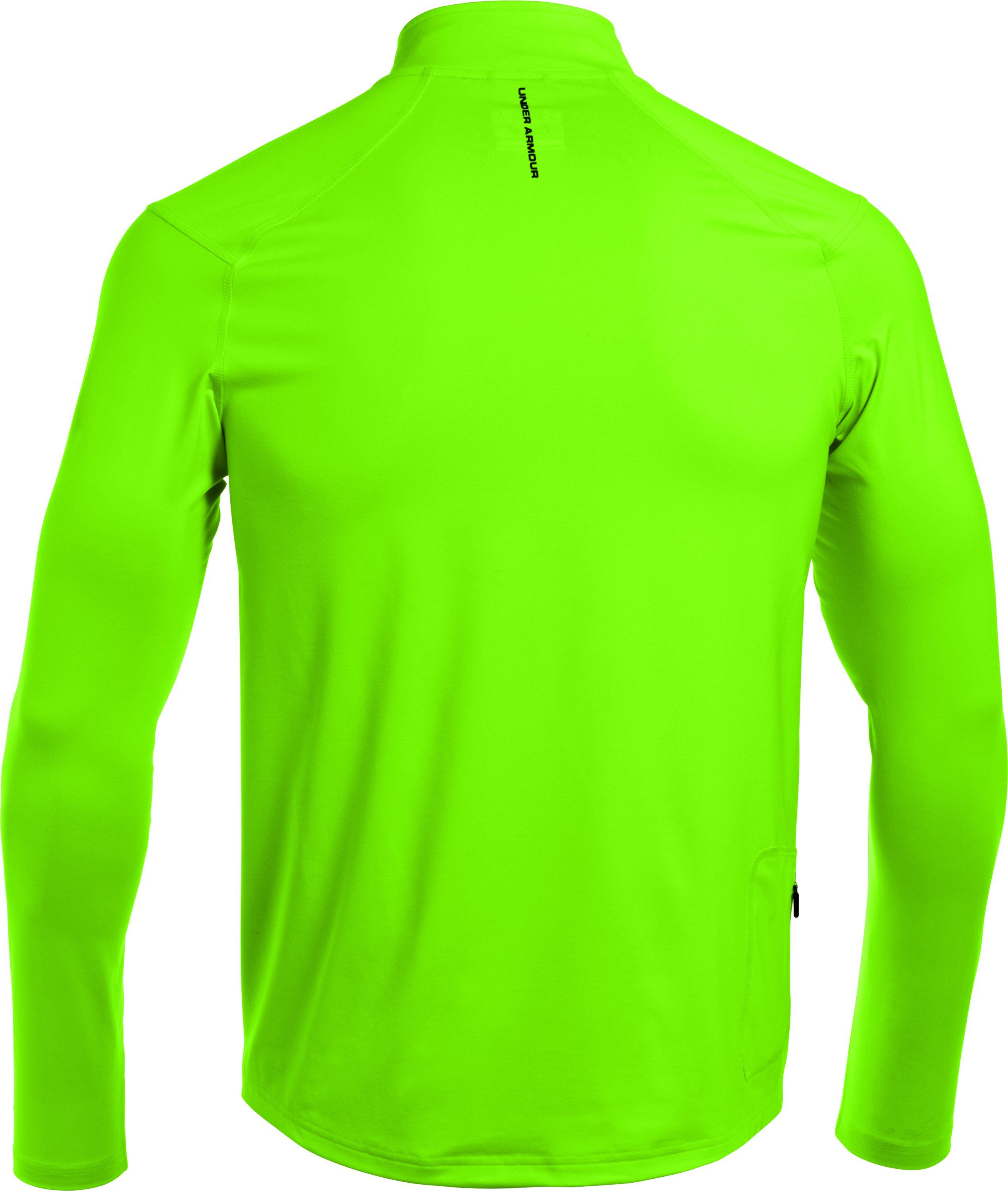 Men's UA Stealth Run Storm ¼ Zip, HYPER GREEN,