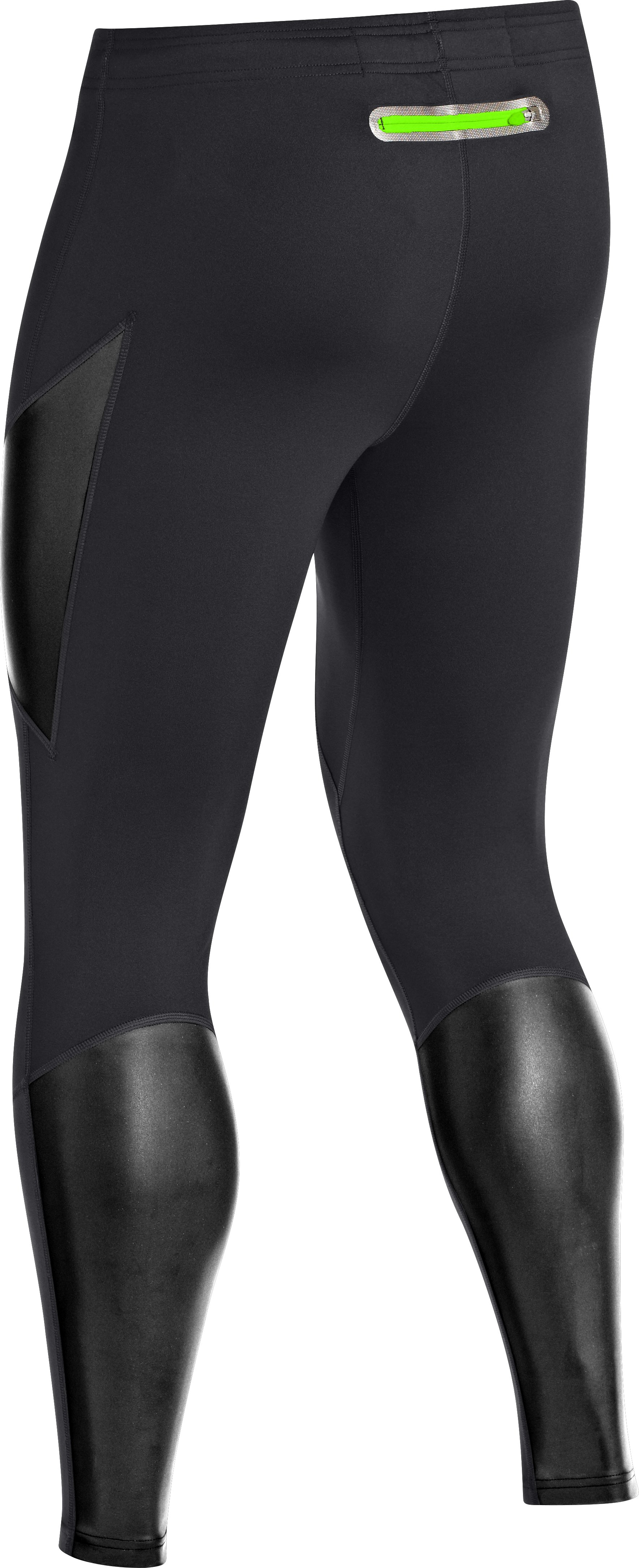 Men's UA Stealth Run Storm Tights, Black
