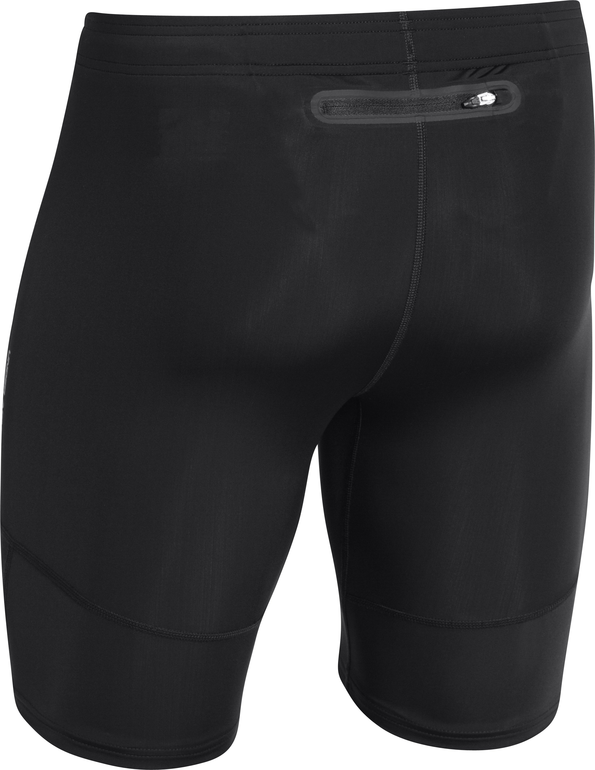 Men's UA Run Compression Shorts, Black