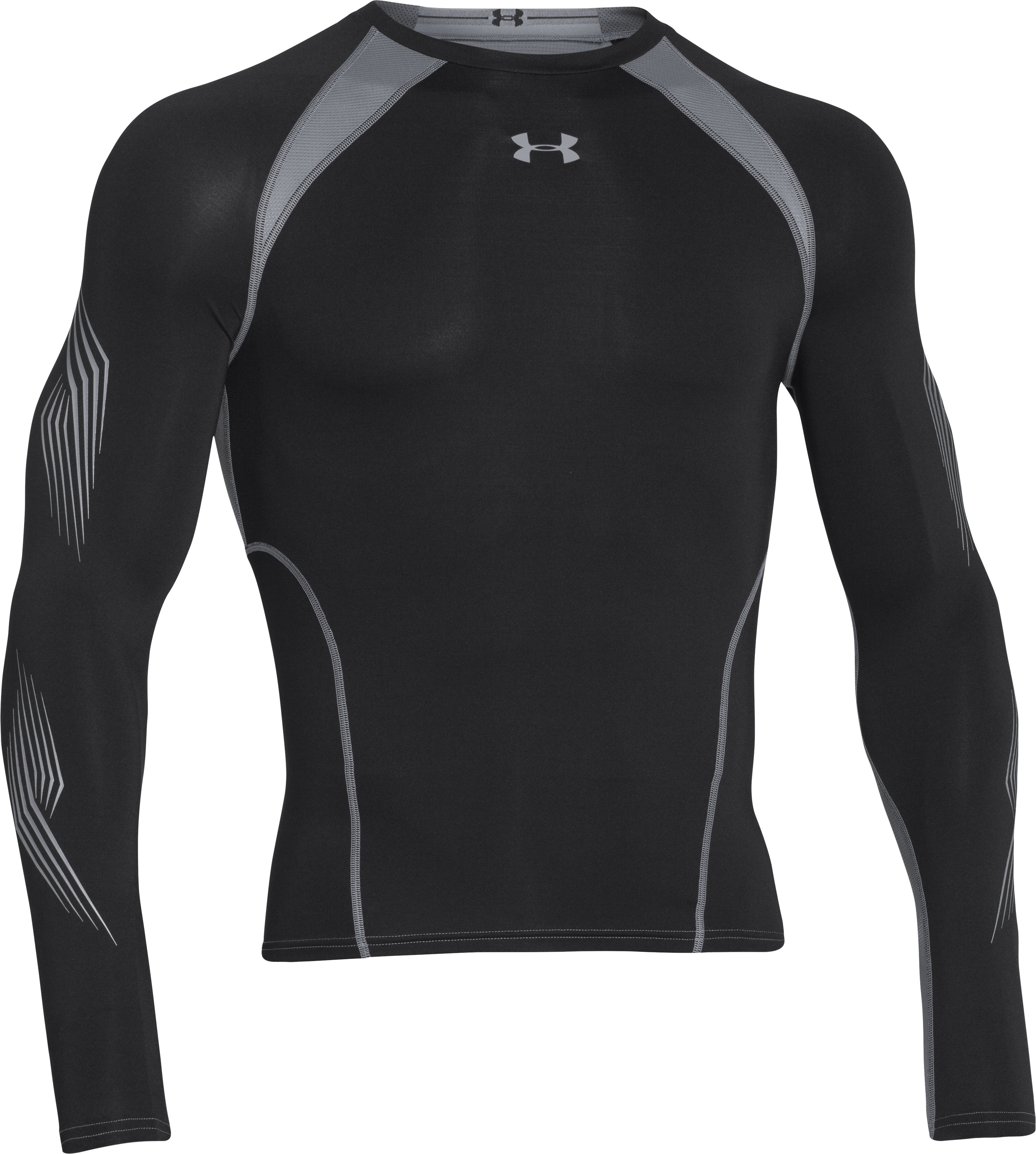 Men's UA Hockey Grippy Compression Top, Black ,