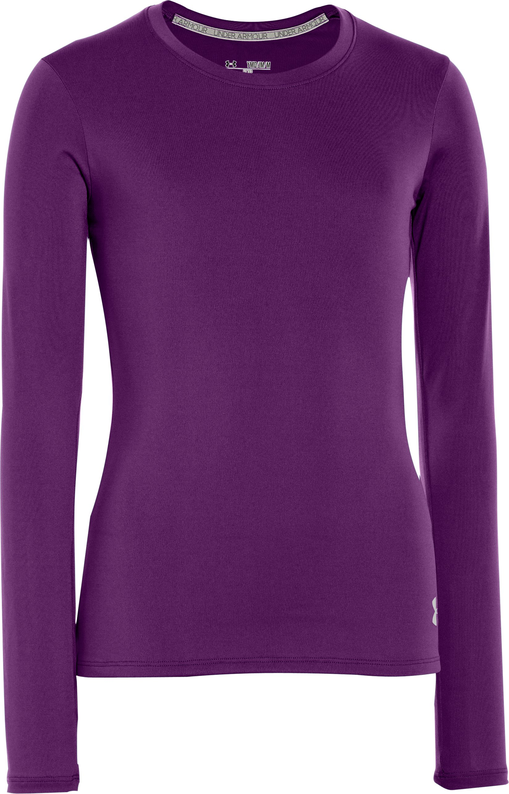 Girls' HeatGear® Sonic Long Sleeve, Hendrix, undefined