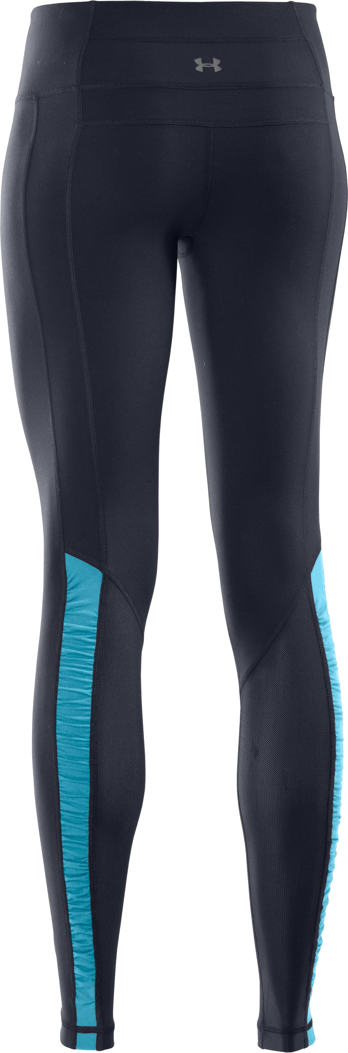 Women's UA Perfect Stripe Legging, ANTHRACITE, undefined