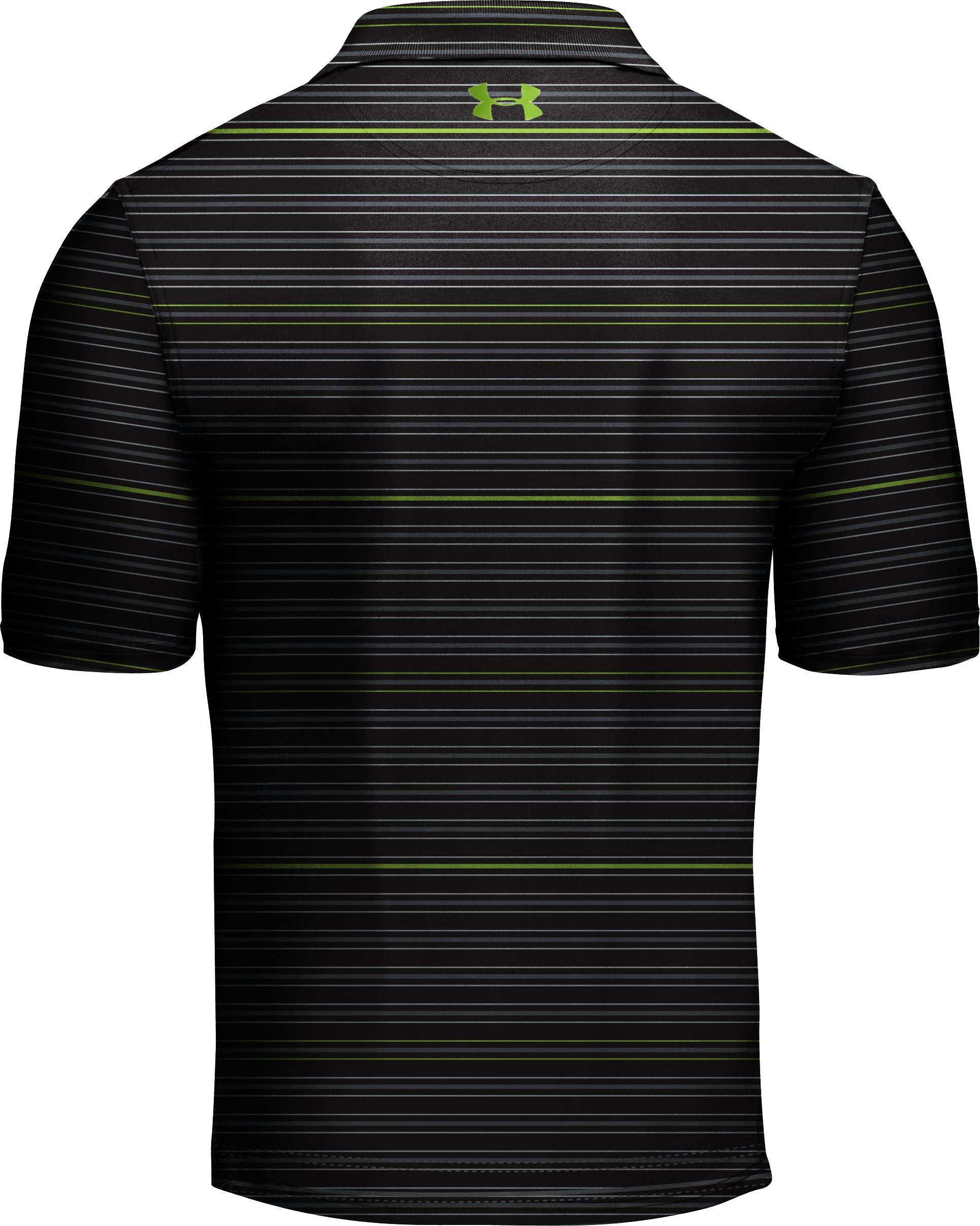 Men's UA Performance Stripe Polo, Black , undefined