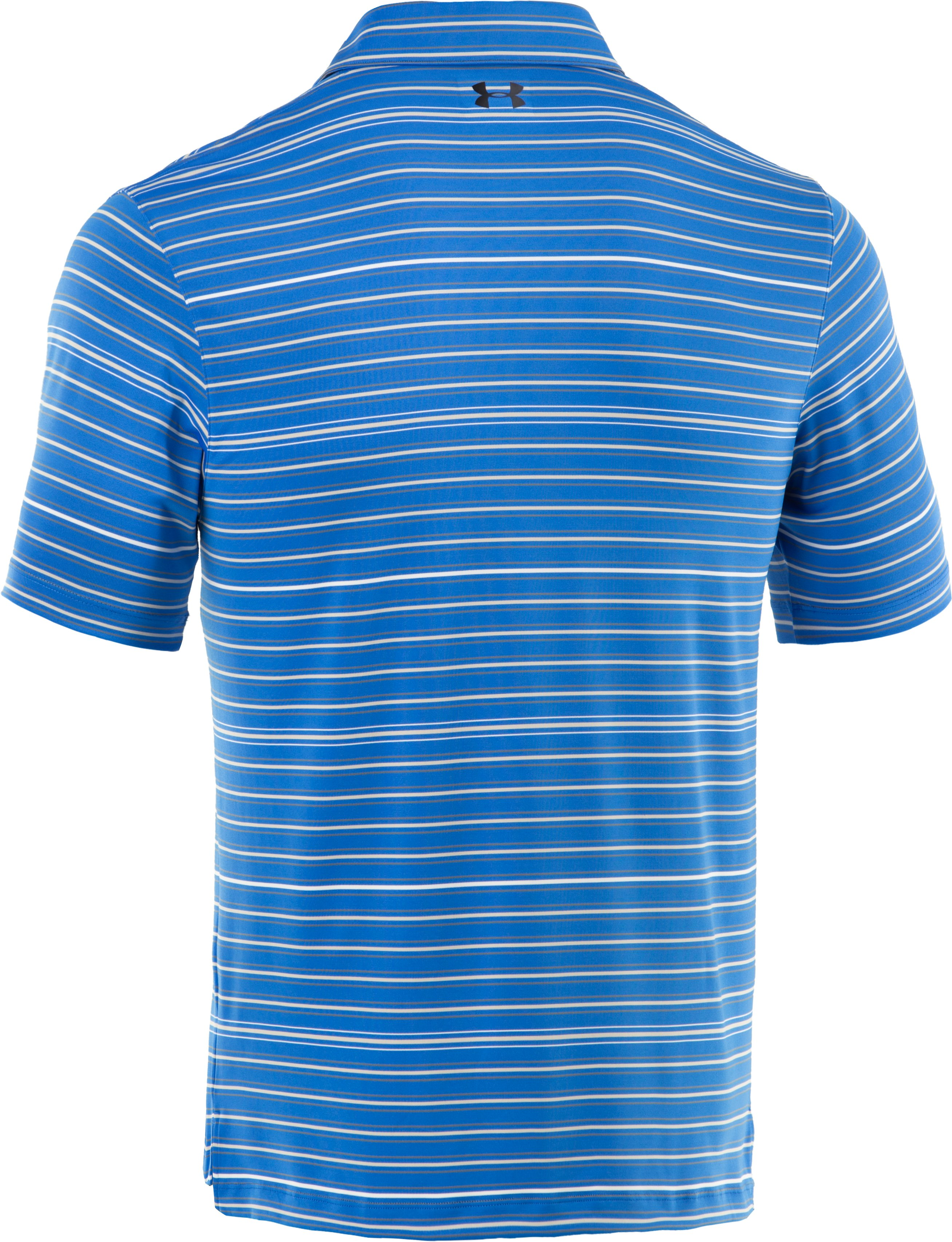 Men's UA Performance Stripe Polo, Moon Shadow