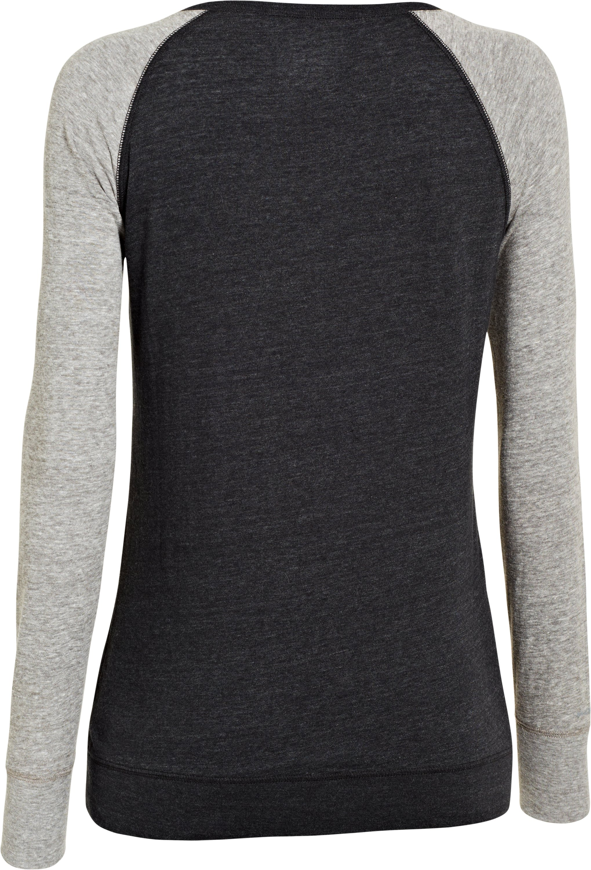 Women's UA Script Metallic Long Sleeve Raglan, Black , undefined