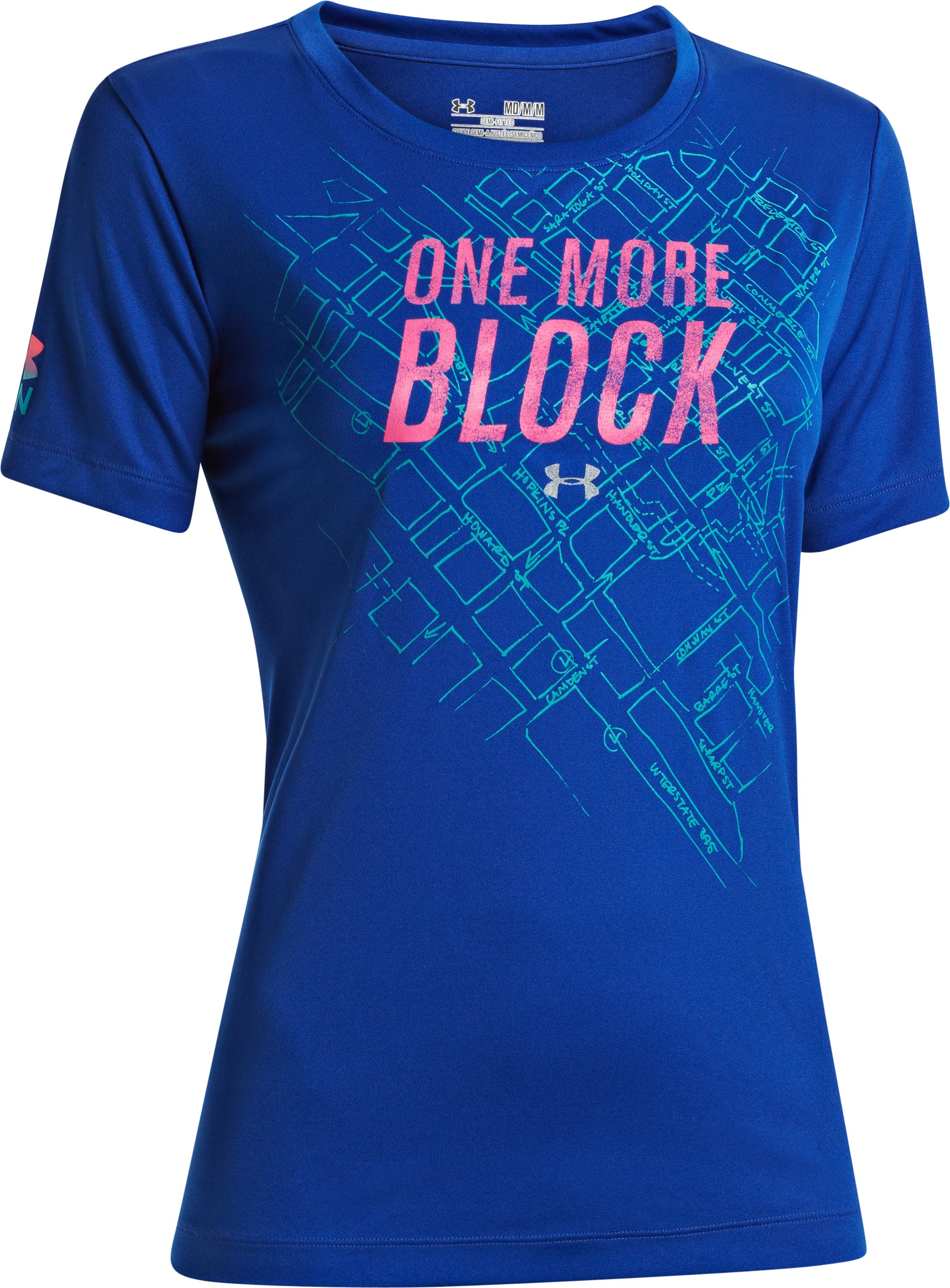 Women's UA One More Block T-Shirt, BLU-AWAY