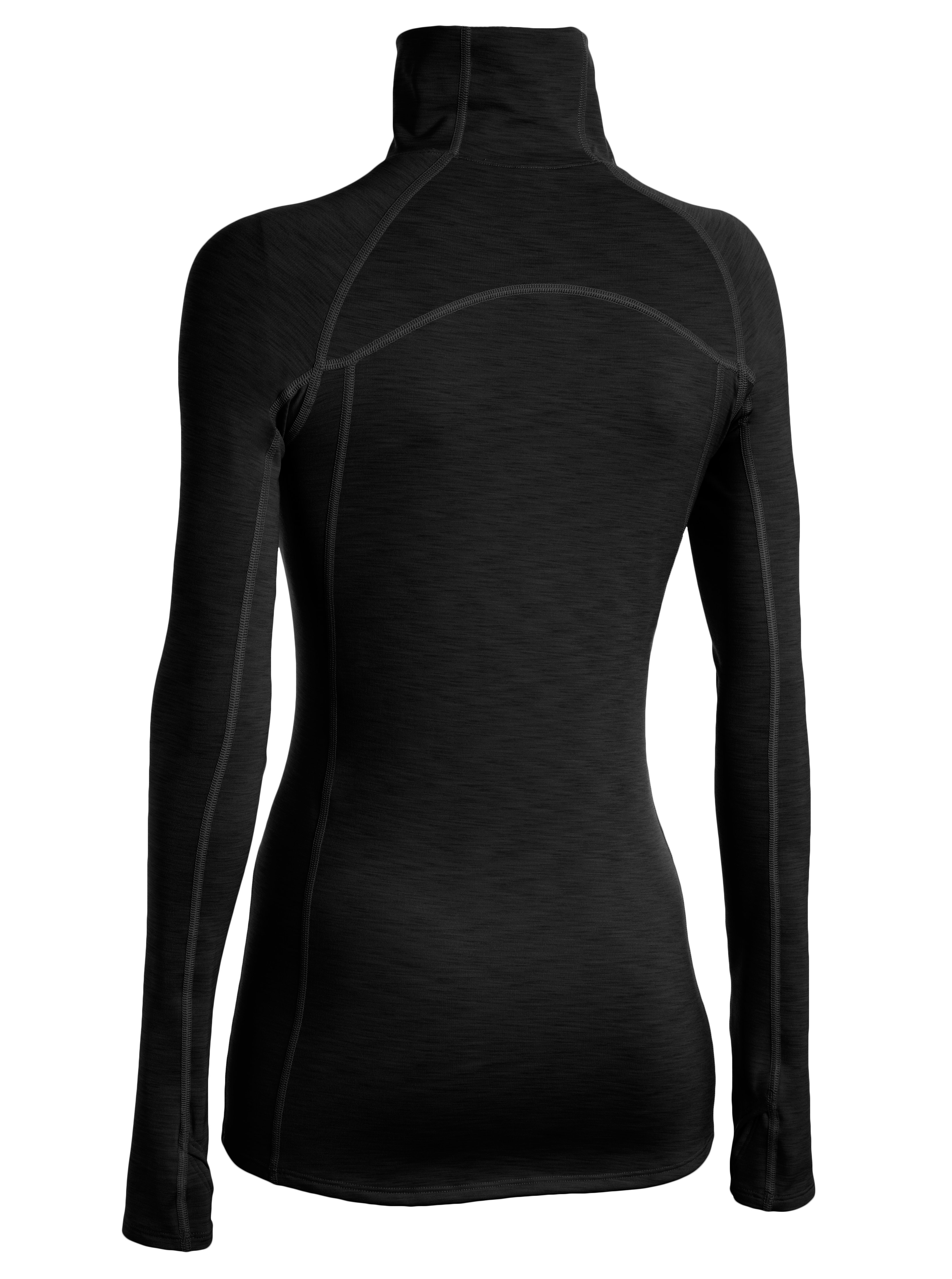 Women's UA ColdGear® Cozy Neck Long Sleeve , Black
