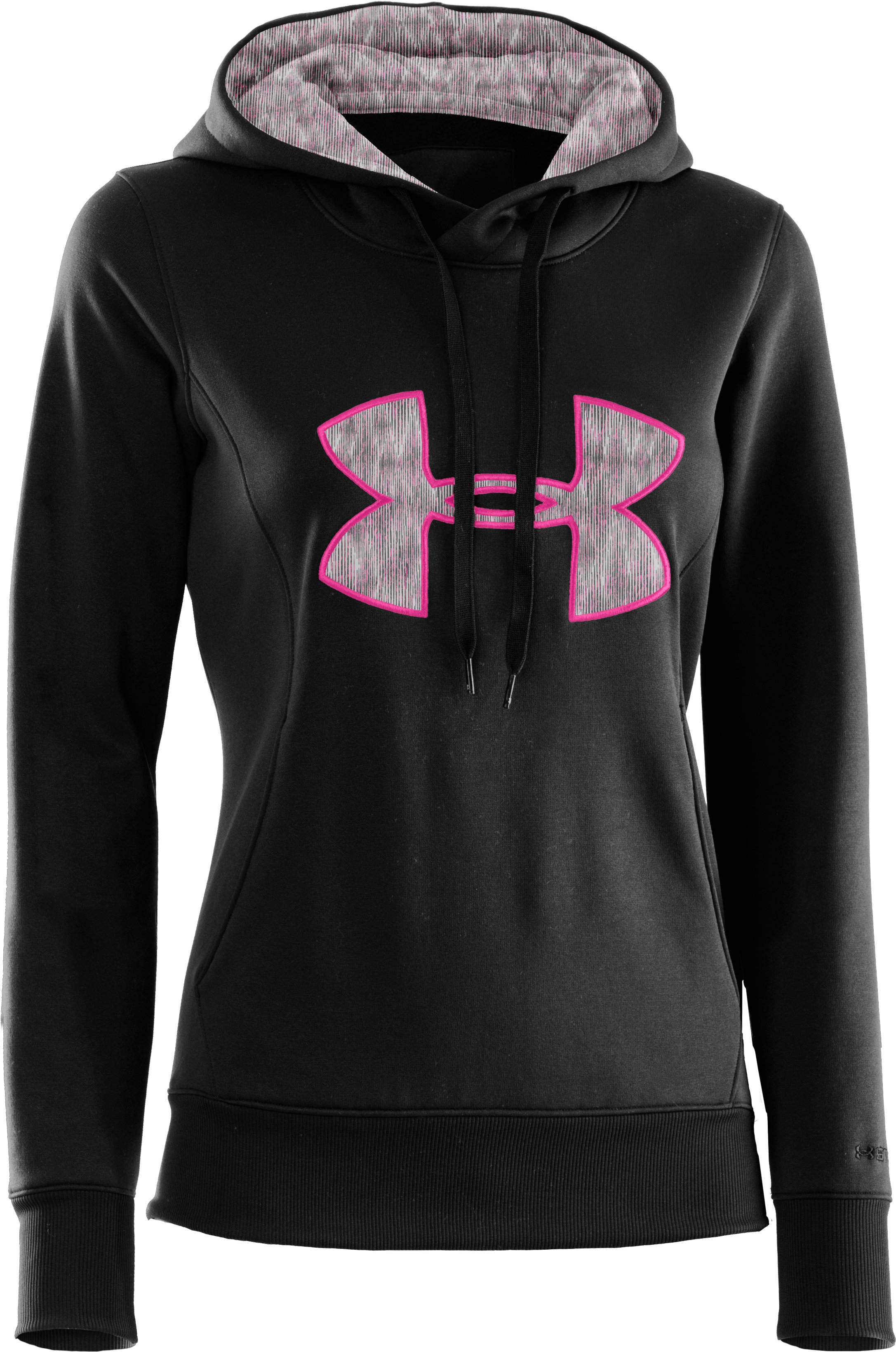 Women's Armour® Fleece Storm Big Logo Hoodie, Black , undefined