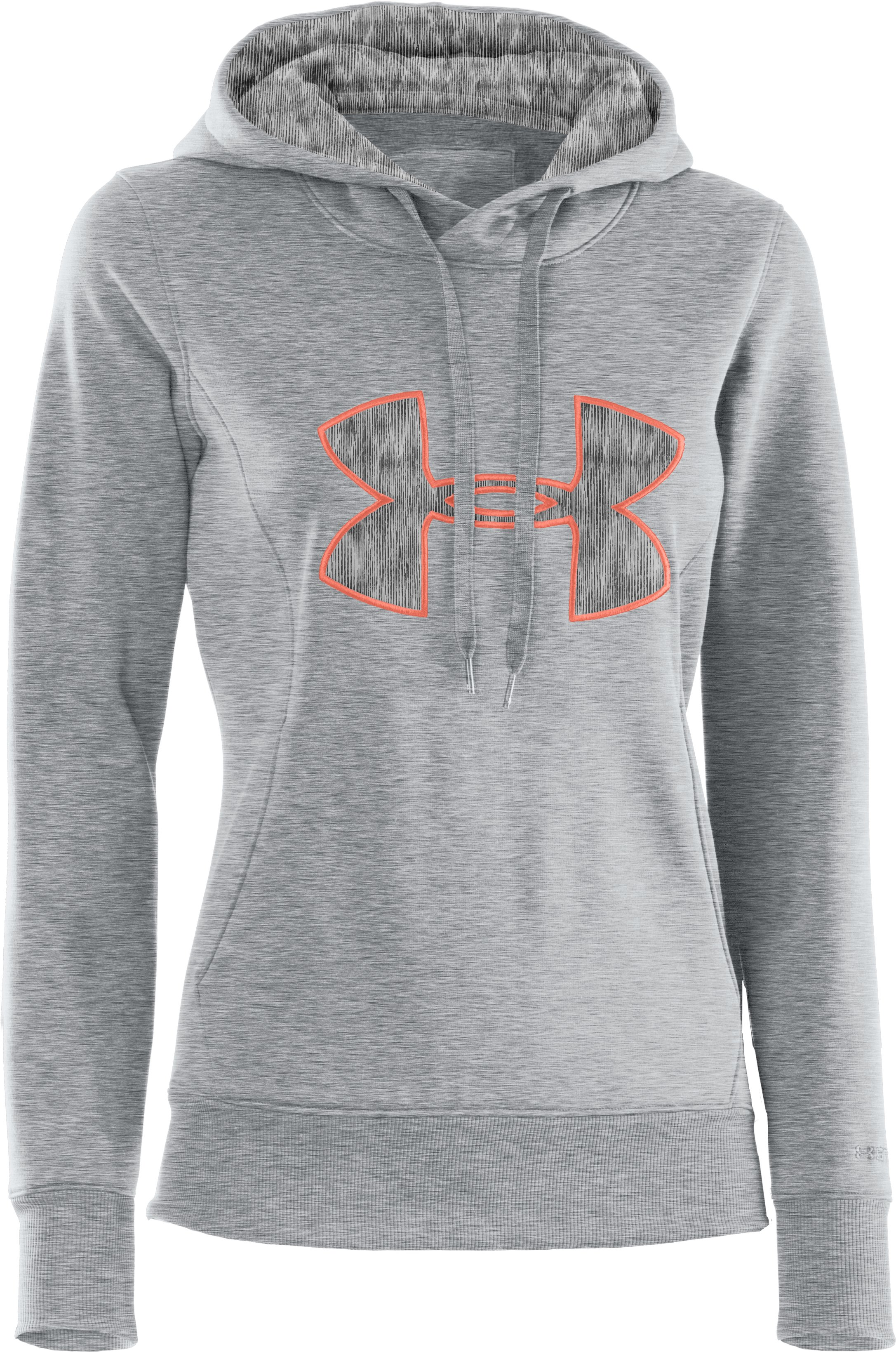 Women's Armour® Fleece Storm Big Logo Hoodie, True Gray Heather, undefined