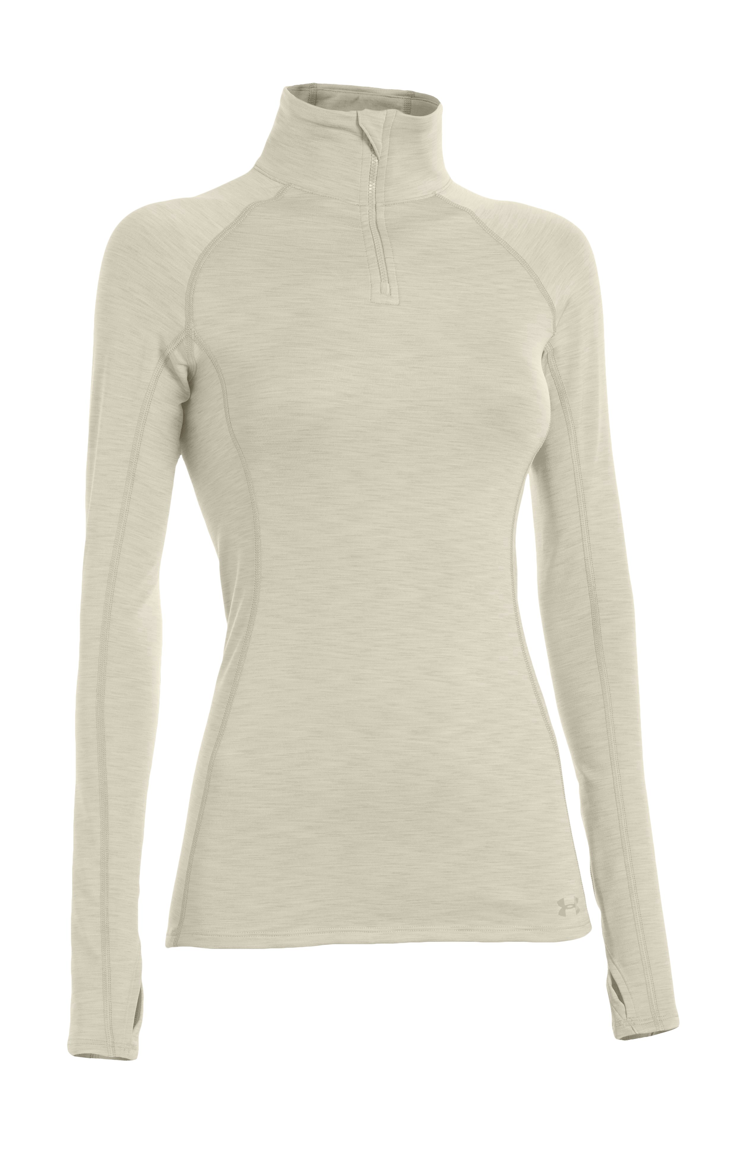 Women's UA Coldgear Cozy ½ Zip, TUSK