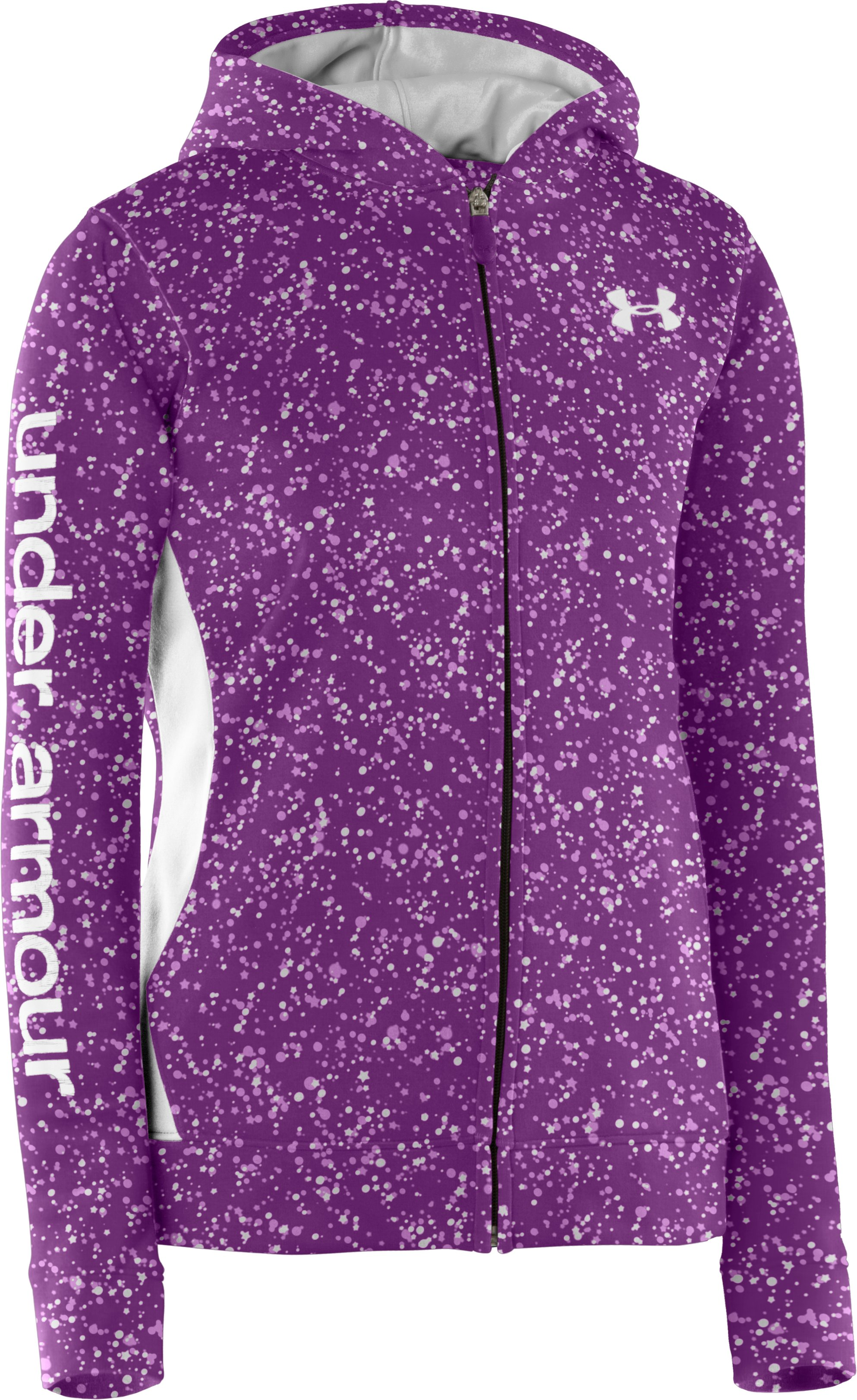 Girls' Armour® Fleece Full Zip Hoodie, Hendrix, zoomed image
