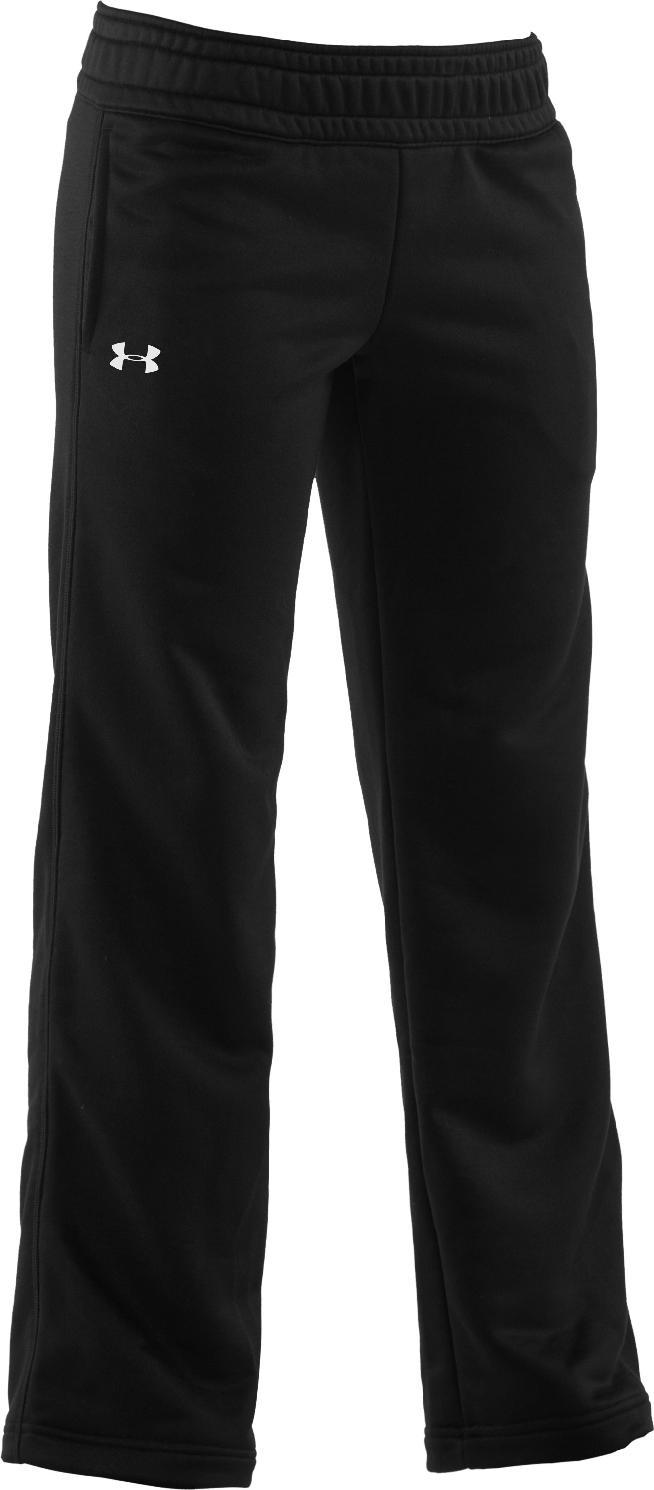Girls' Armour® Fleece Pant, Black