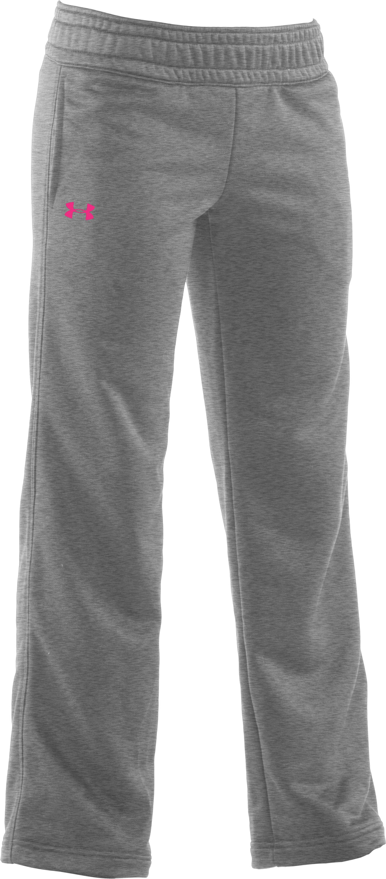 Girls' Armour® Fleece Pant, True Gray Heather, zoomed image