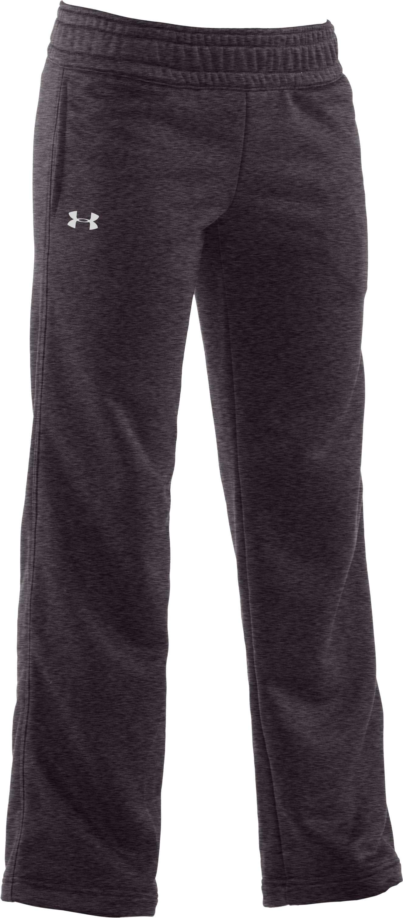 Girls' Armour® Fleece Pant, Carbon Heather, zoomed image
