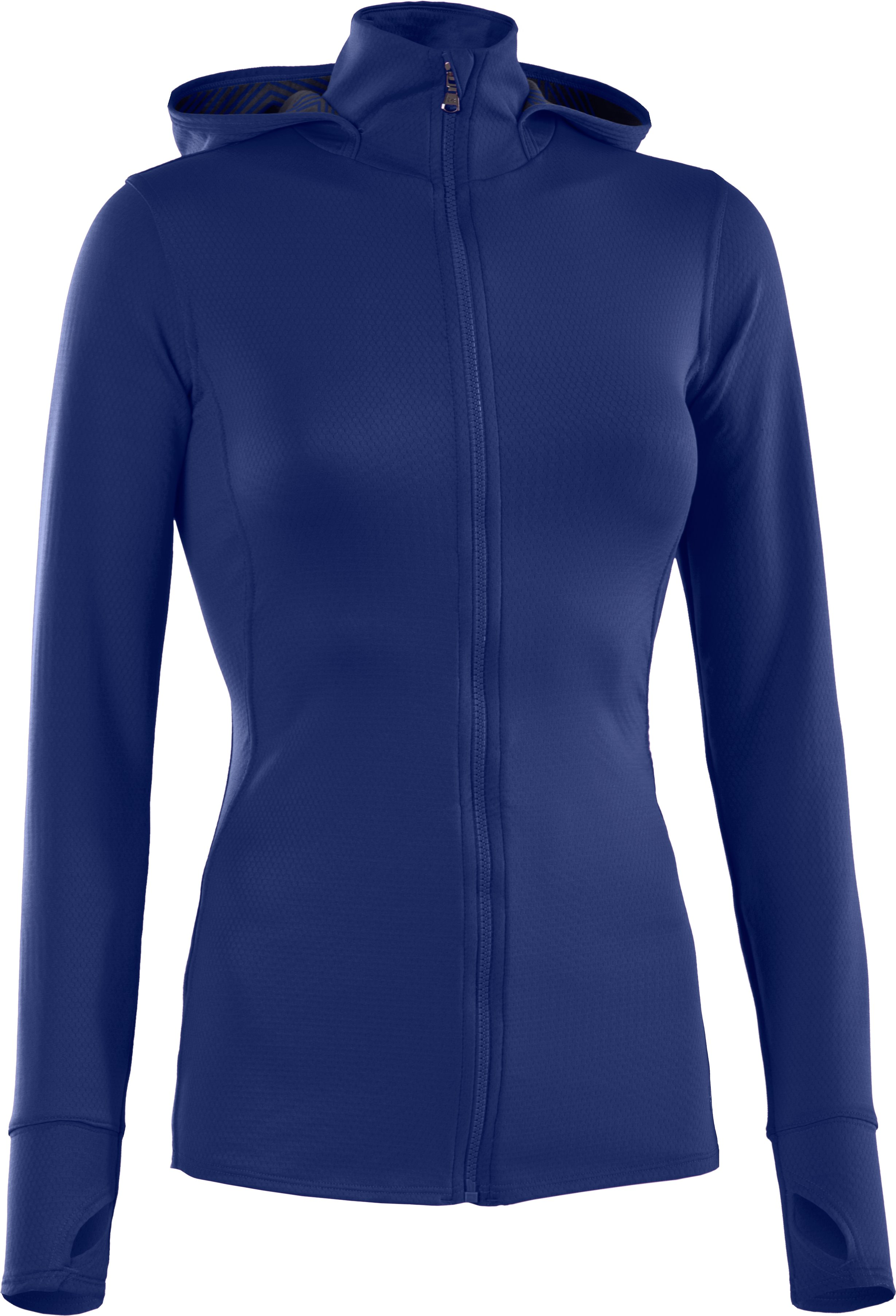 Women's ColdGear® Infrared Thermo Full Zip Hoodie, BLU-AWAY