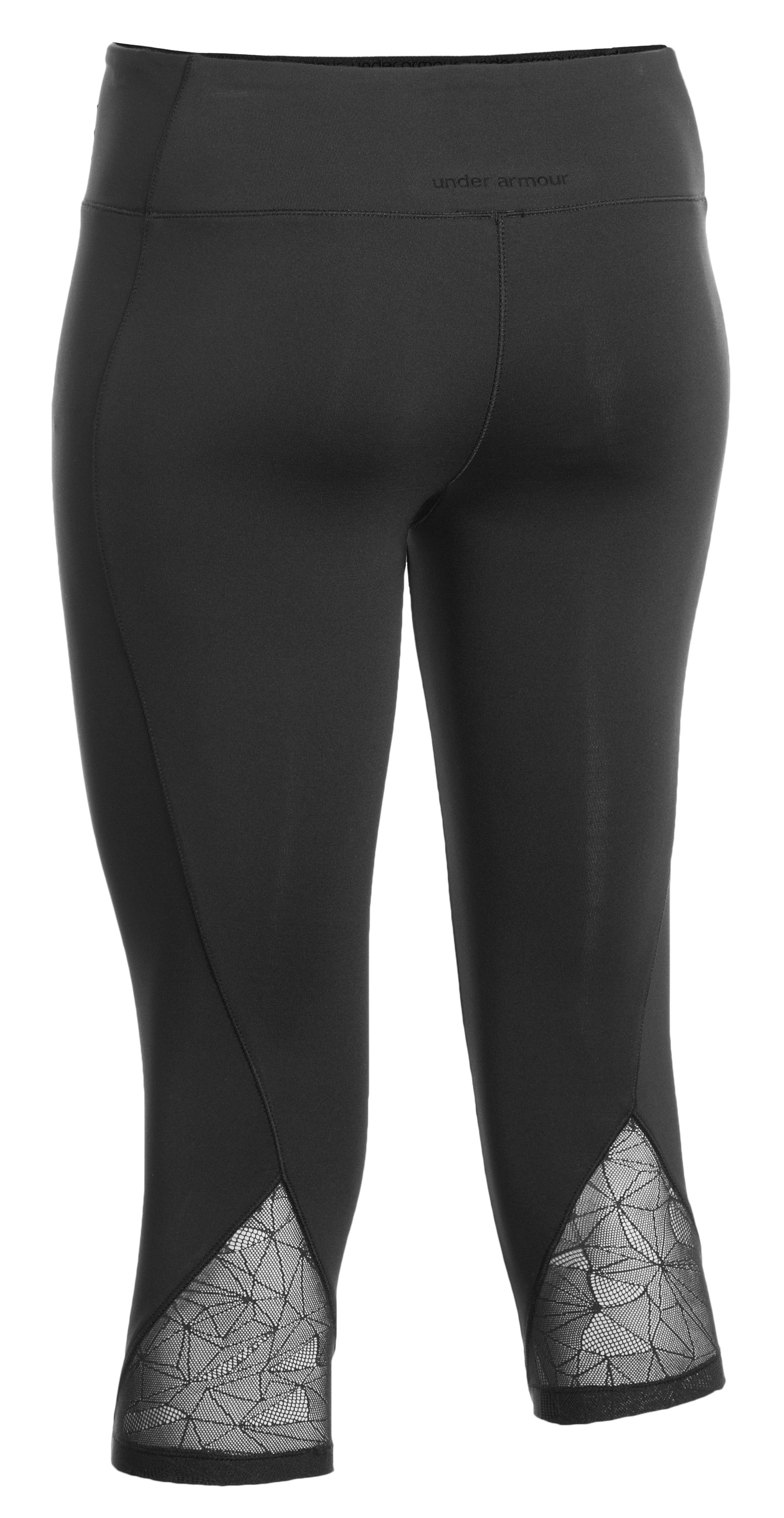 "Women's HeatGear® Sonic See It Through 17"" Capri, Black"
