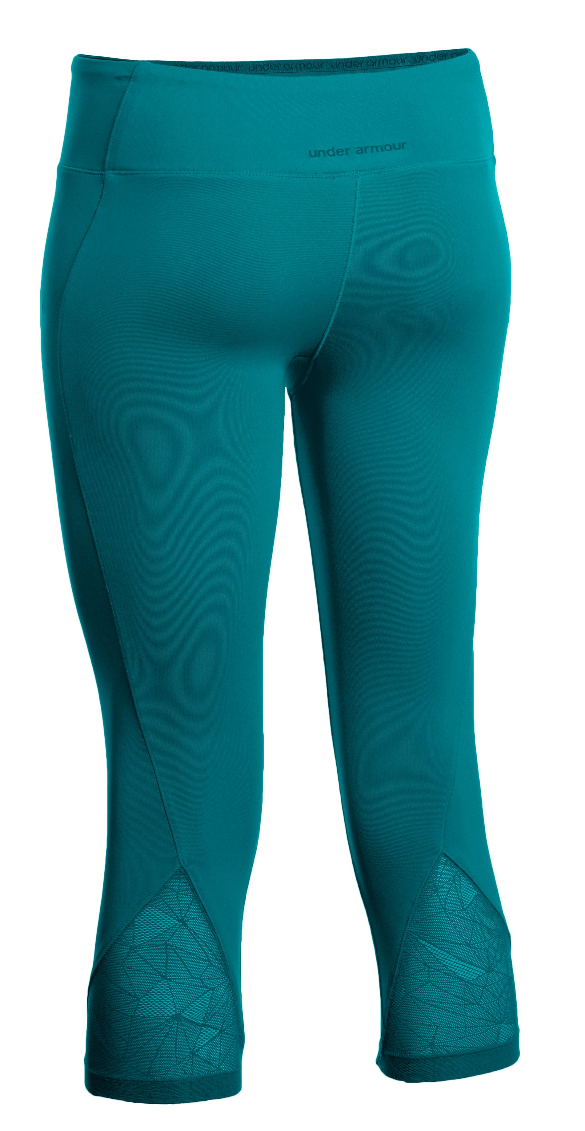 "Women's HeatGear® Sonic See It Through 17"" Capri, CERULEAN,"