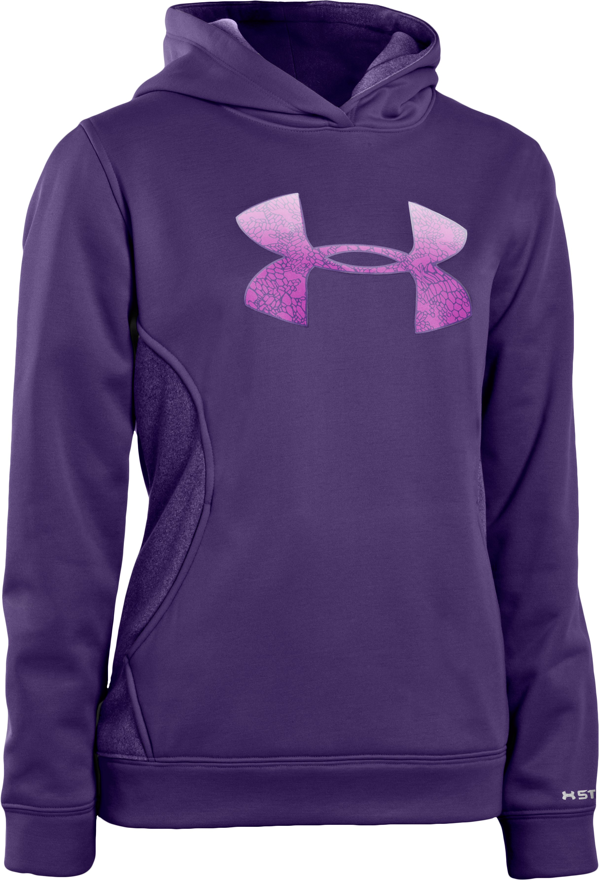 Women's Armour® Fleece Storm Pulse Big Logo Hoodie, Purple Rain