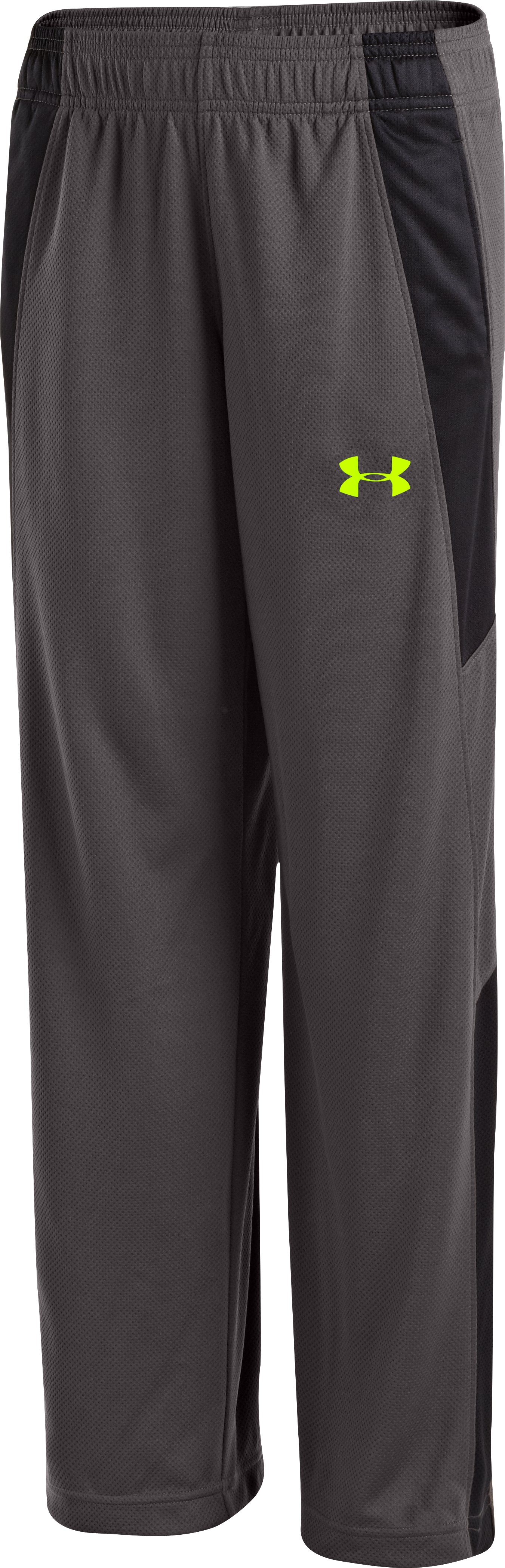 Boys' UA Hero Warm-Up Pants, Charcoal, zoomed image