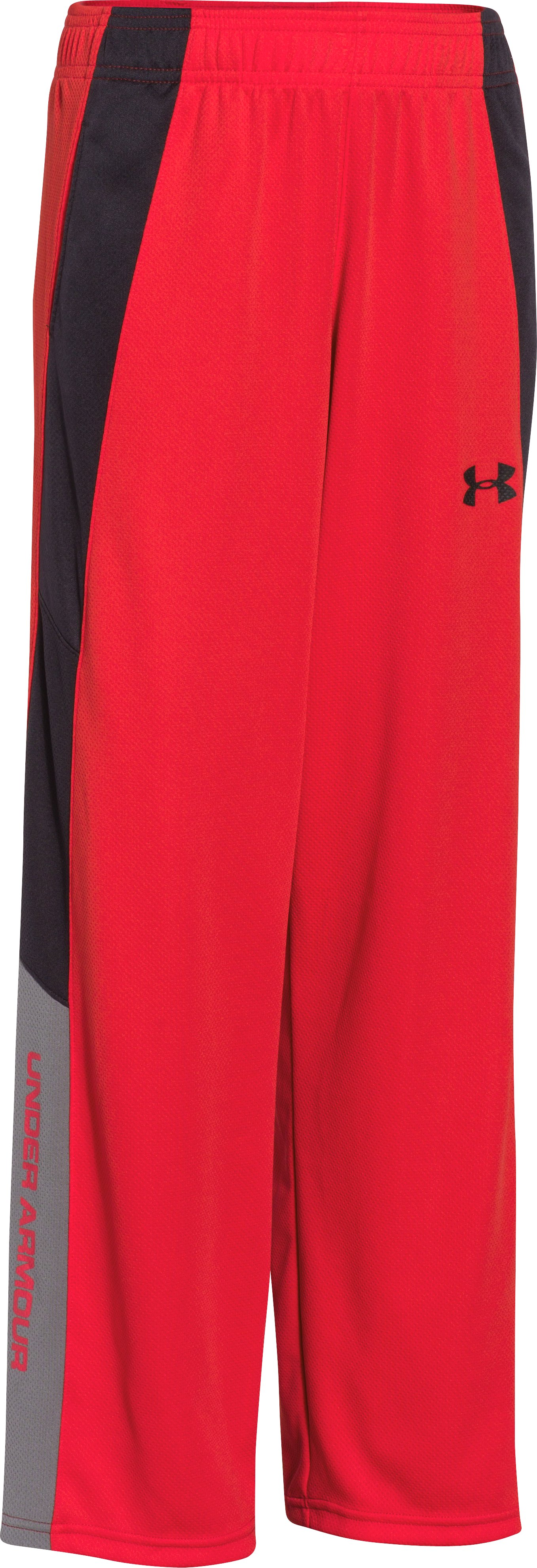Boys' UA Hero Warm-Up Pants, RISK RED, zoomed image