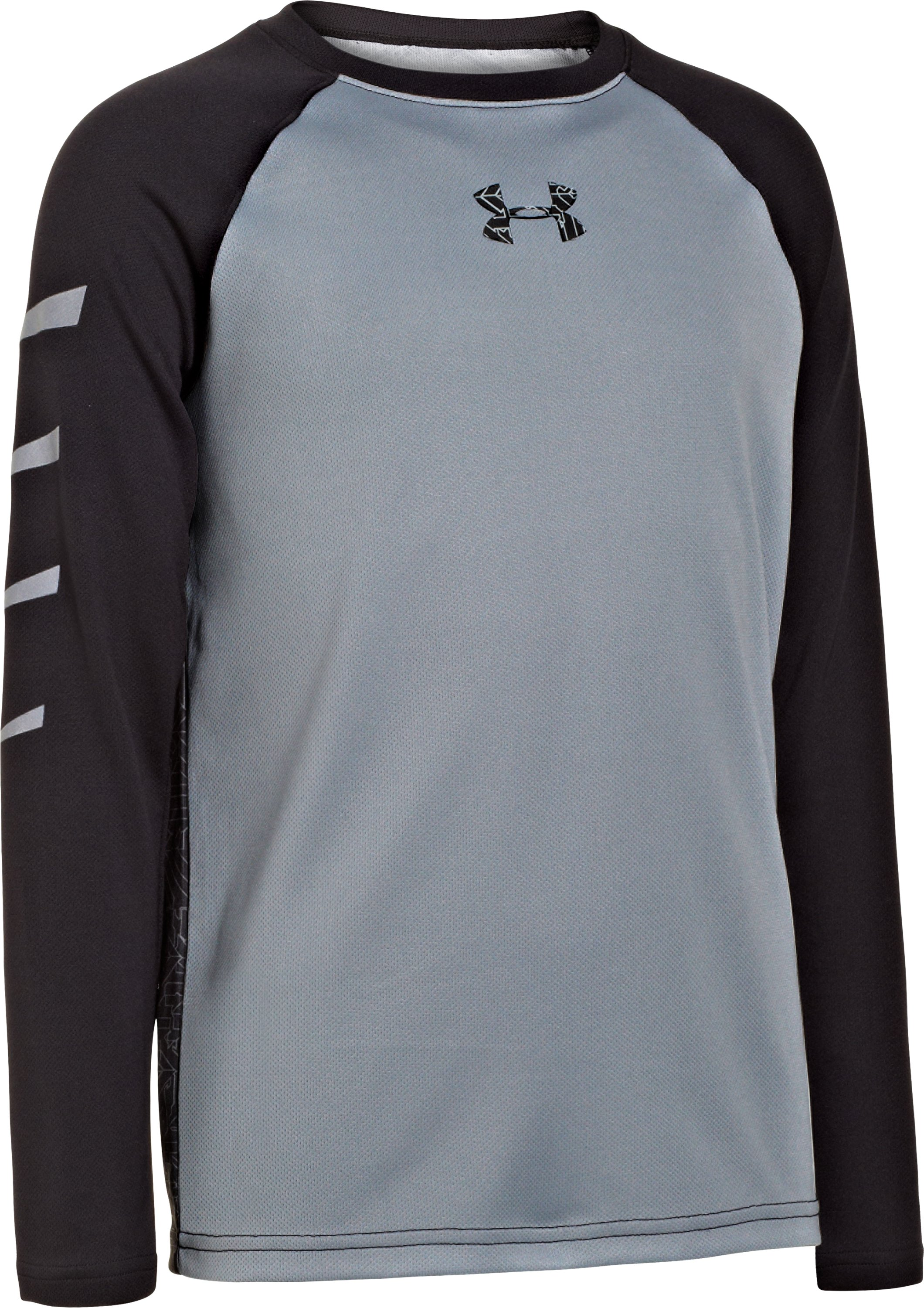 Boys' UA Watch Out Long Sleeve, Steel, zoomed image