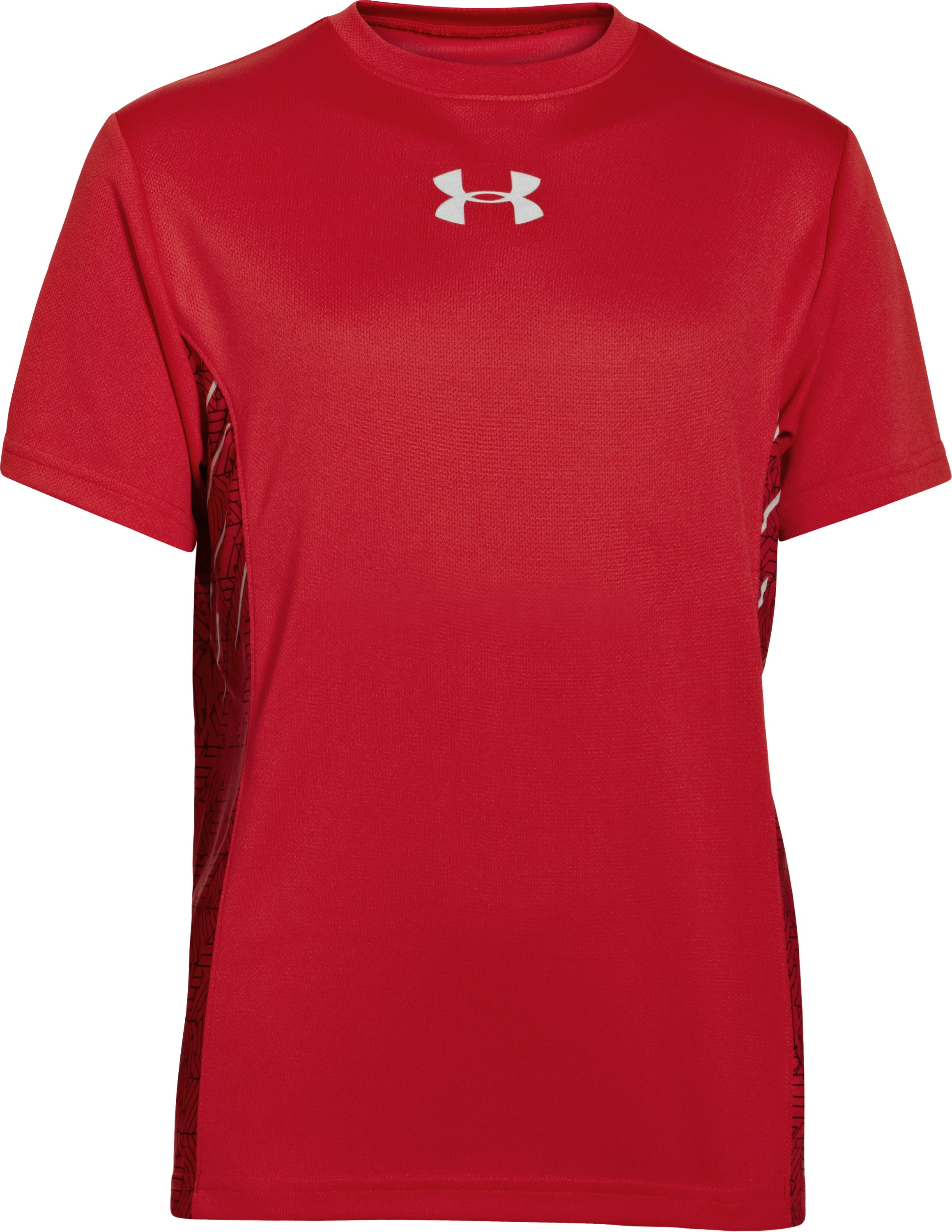 Boys' UA Watch Out Short Sleeve, Red