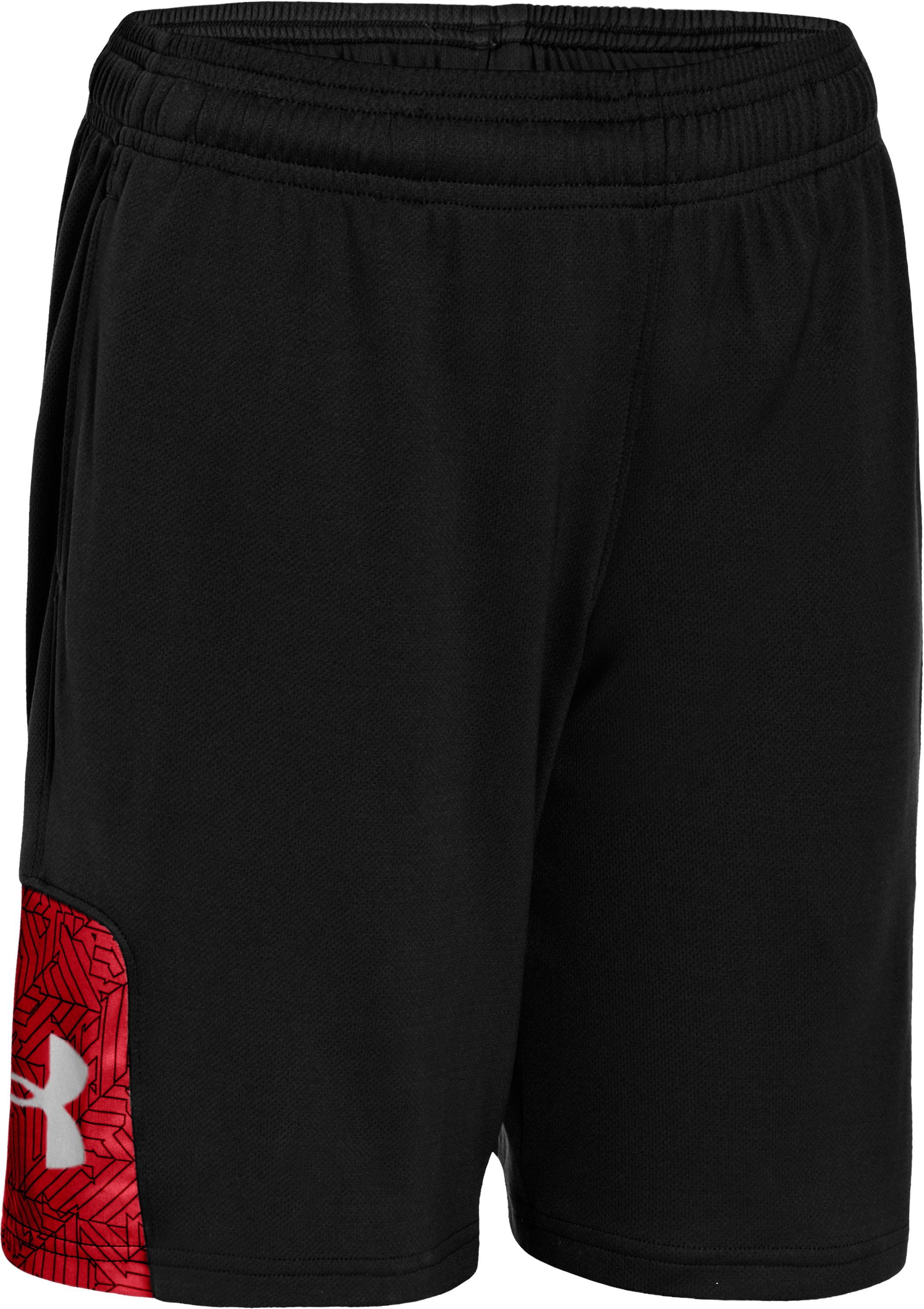 Boys' UA Watch Out Shorts, Black