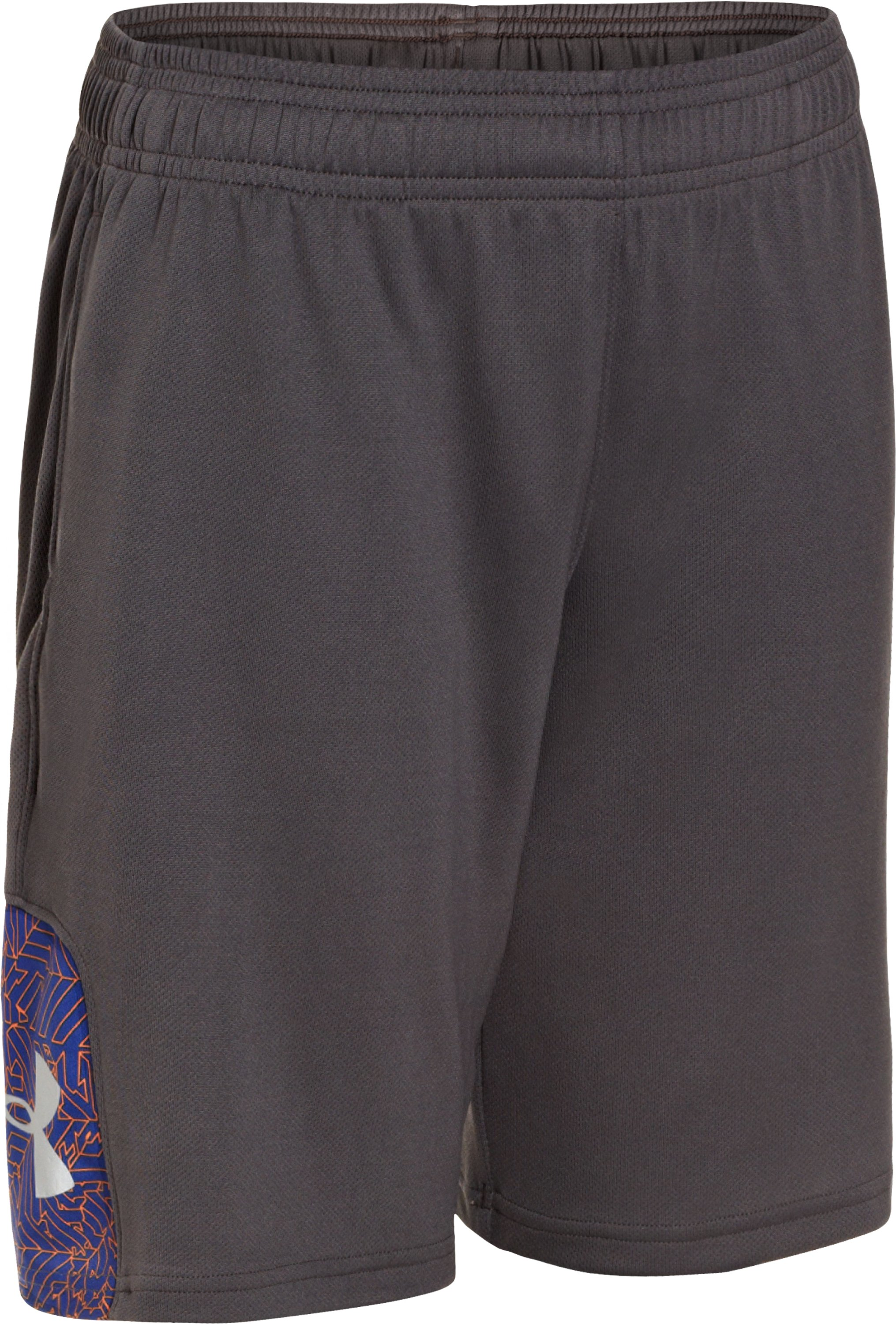 Boys' UA Watch Out Shorts, Charcoal, zoomed image