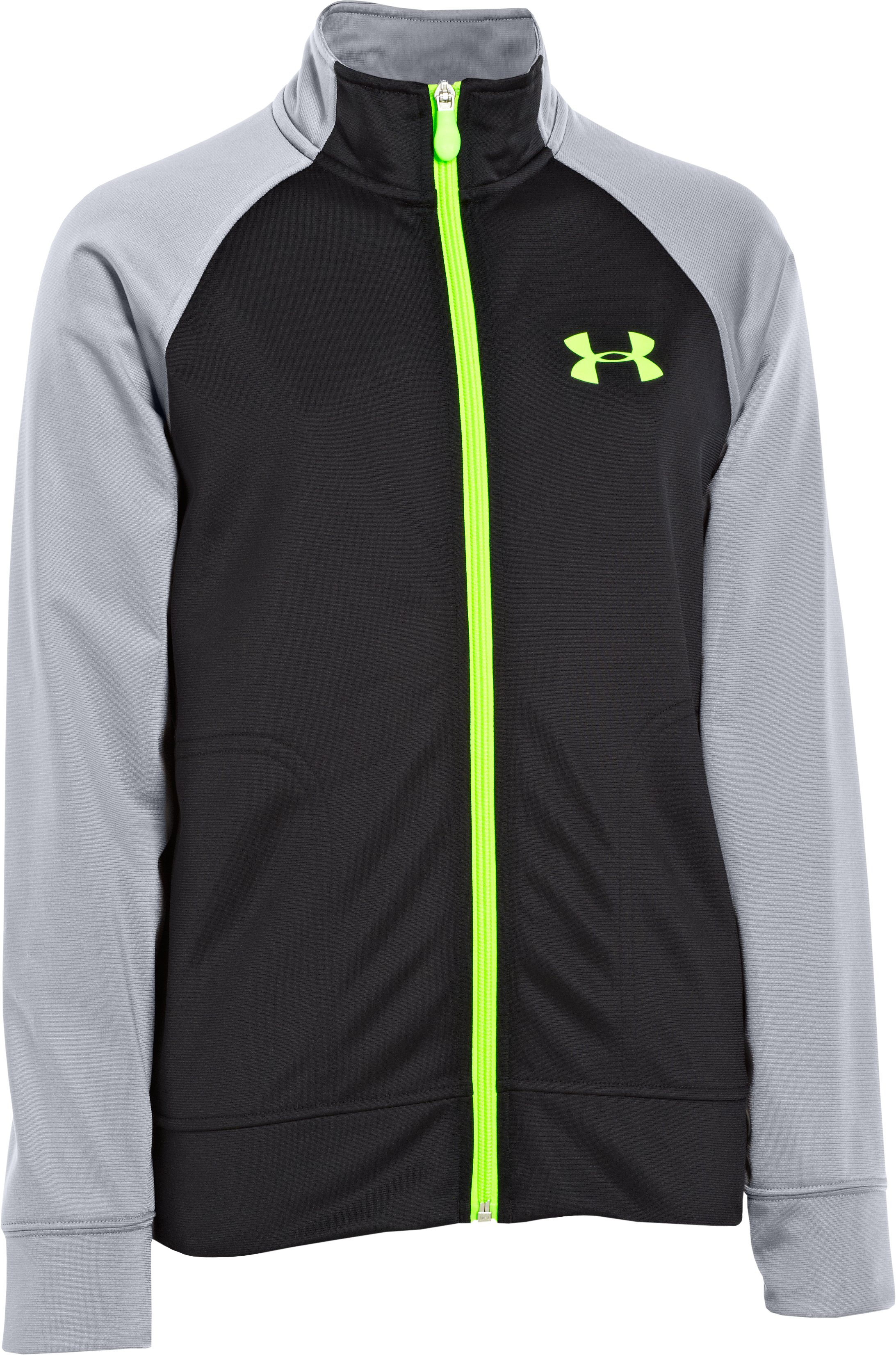 Boys' UA Brawler Knit Warm-Up Jacket 2.0, Black