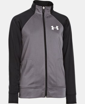 Boys' UA Brawler Knit Warm-Up Jacket 2.0   $37.99